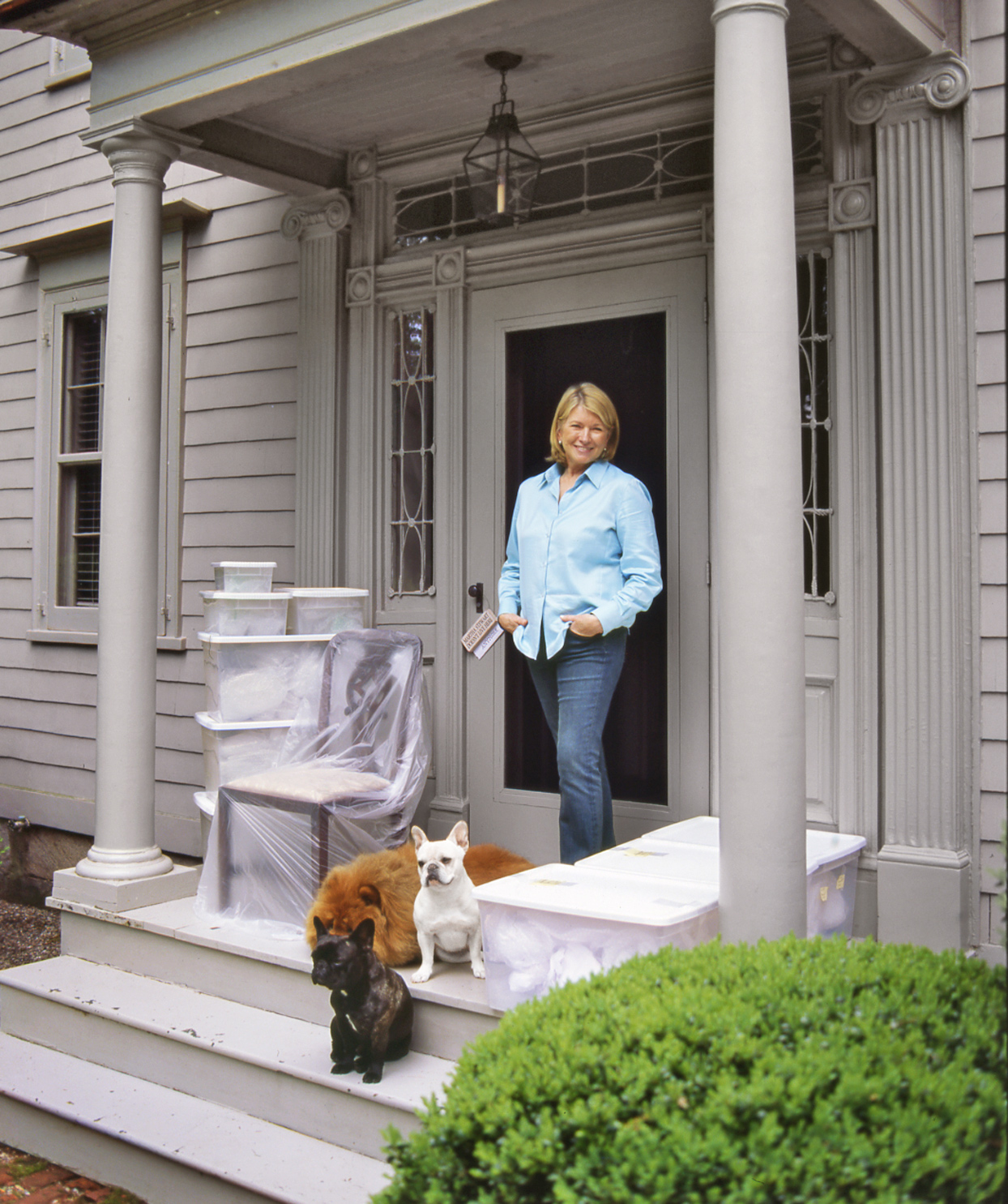 Martha with her dogs