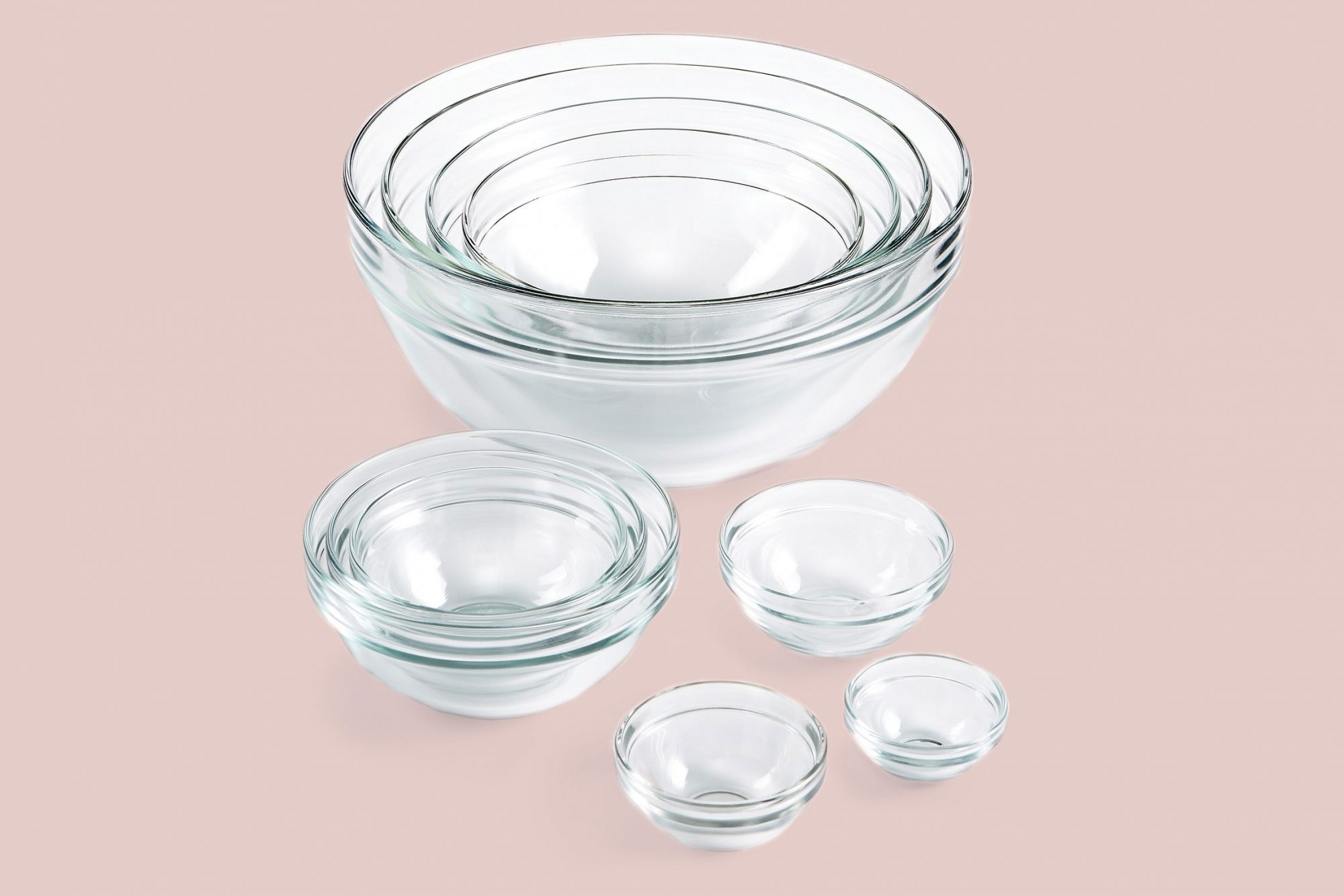 martha stewart collection glass cooking bowl set