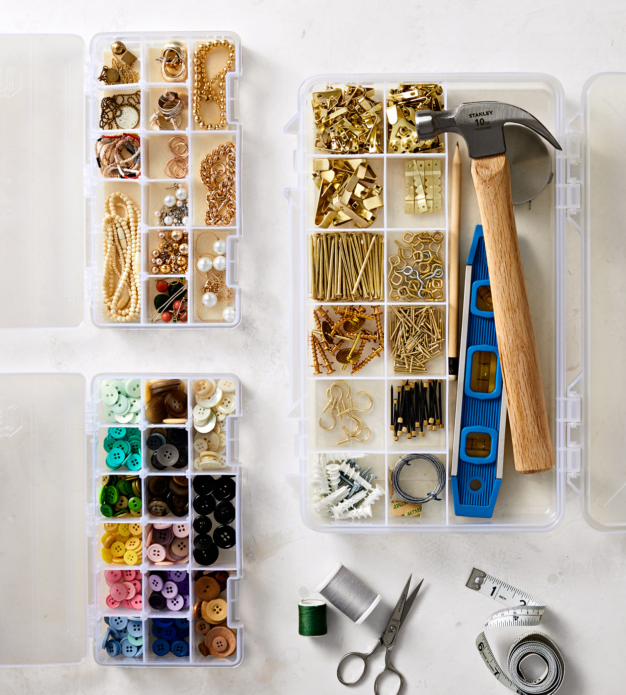 compartment boxes for craft storage