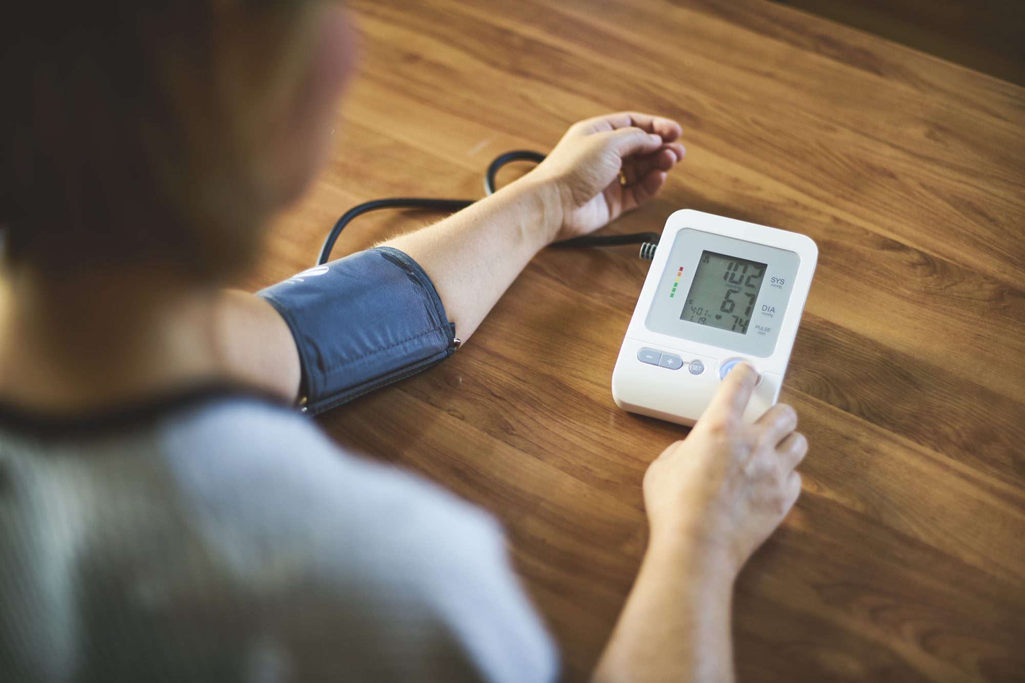 blood pressure readying on home test