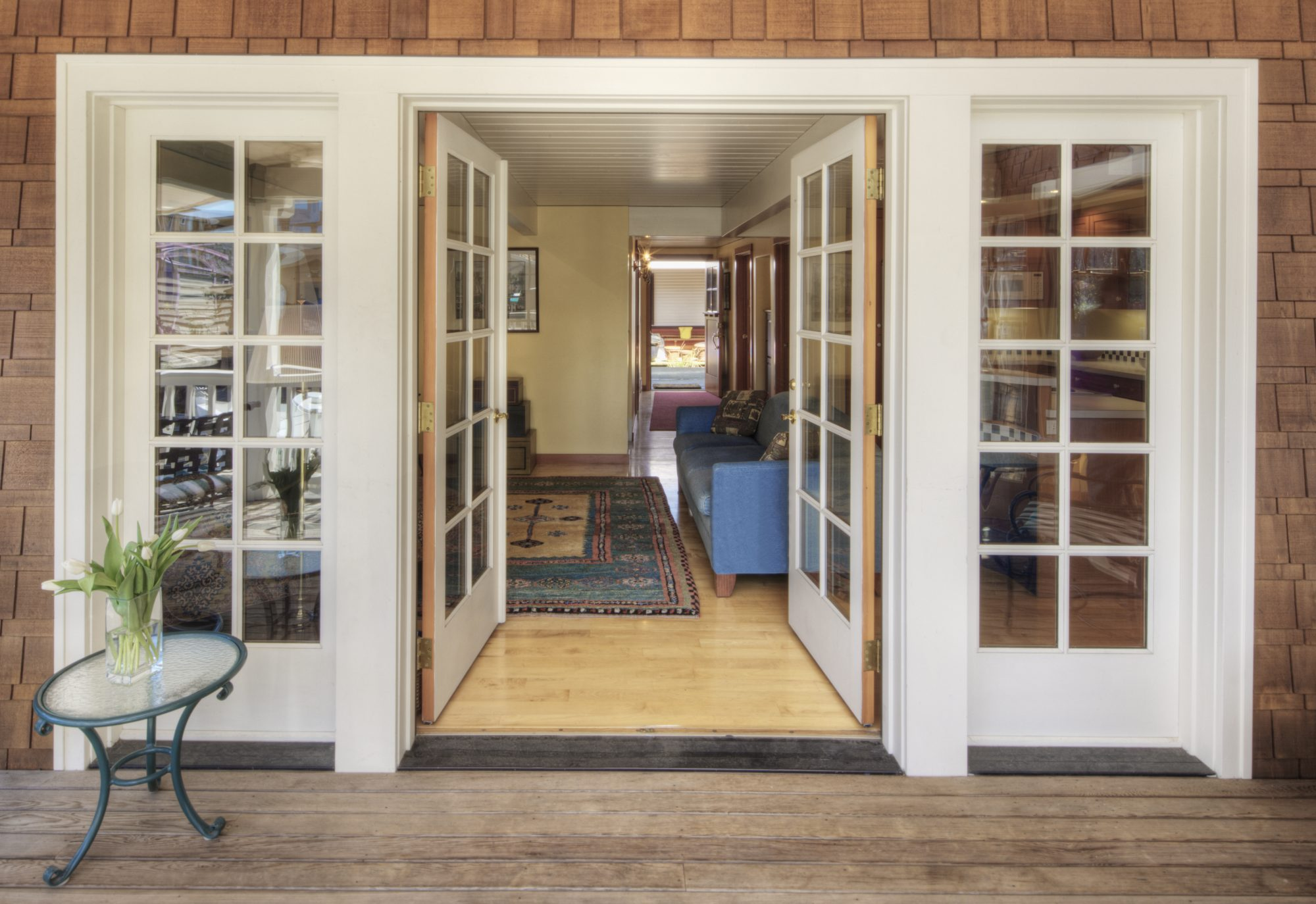 french doors open accessible home