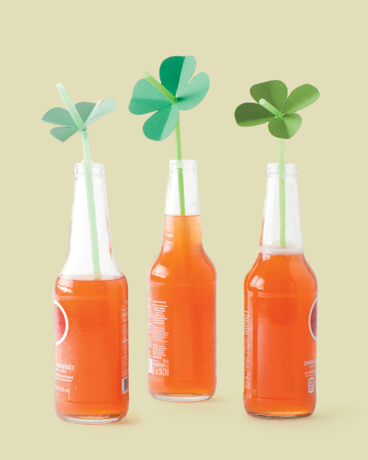 Shamrock Straw Toppers