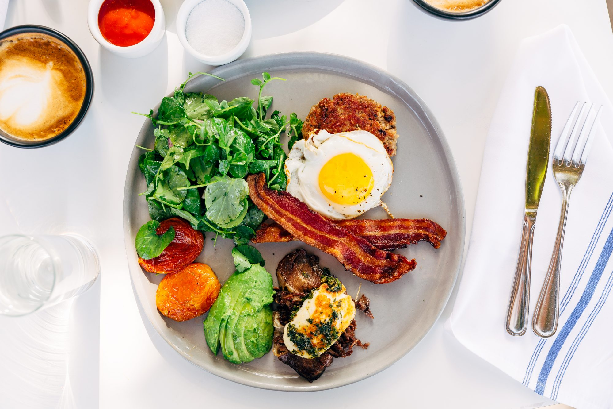 keto diet breakfast plate
