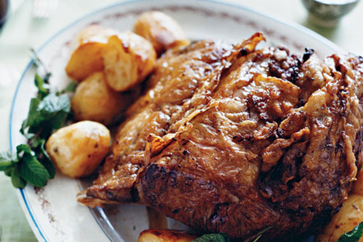Standing Rib Roast with Roasted Potatoes