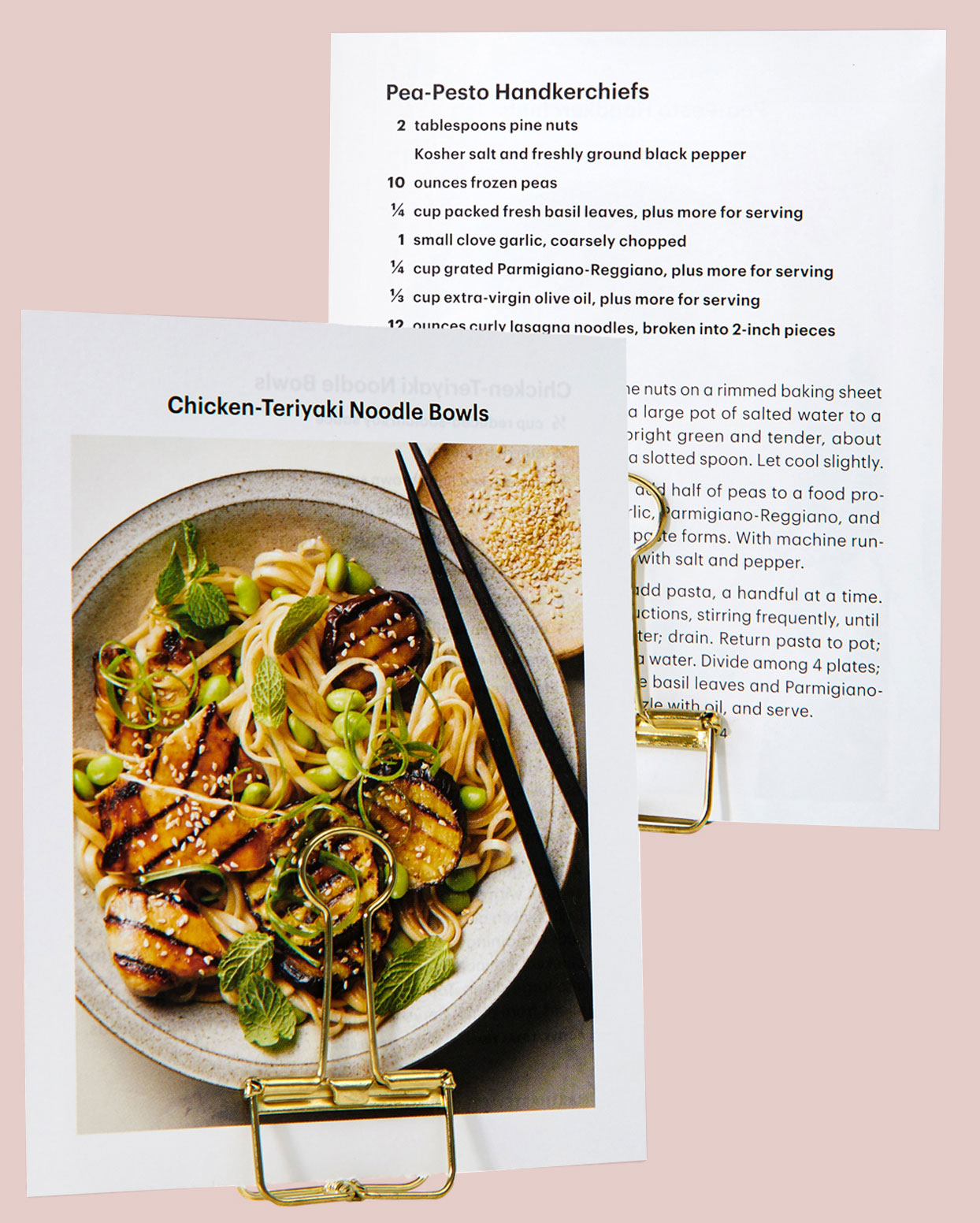 chicken teriyaki noodle bowls recipe print out