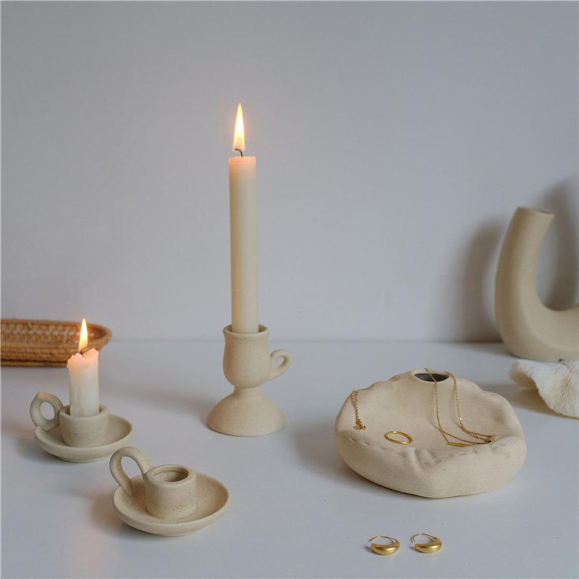 Nordic Style Ceramic Candle Stick Holder