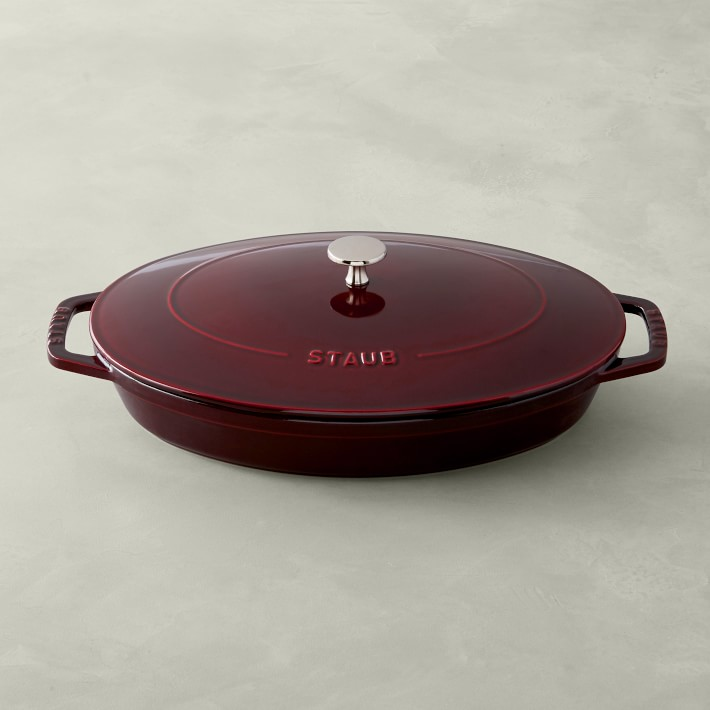 Staub Enameled Cast Iron Oval Gratin with Lid