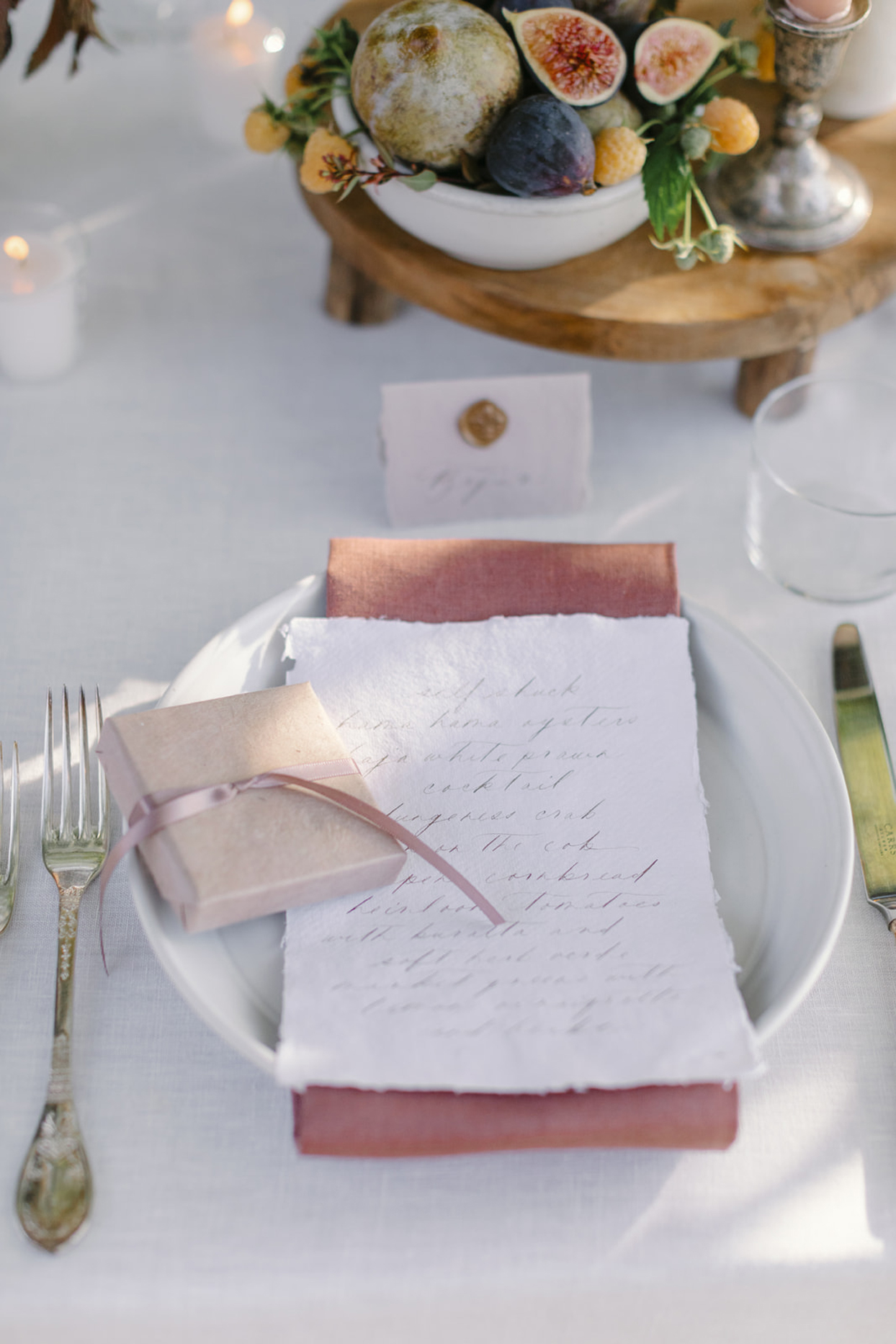 place card and dinner menu