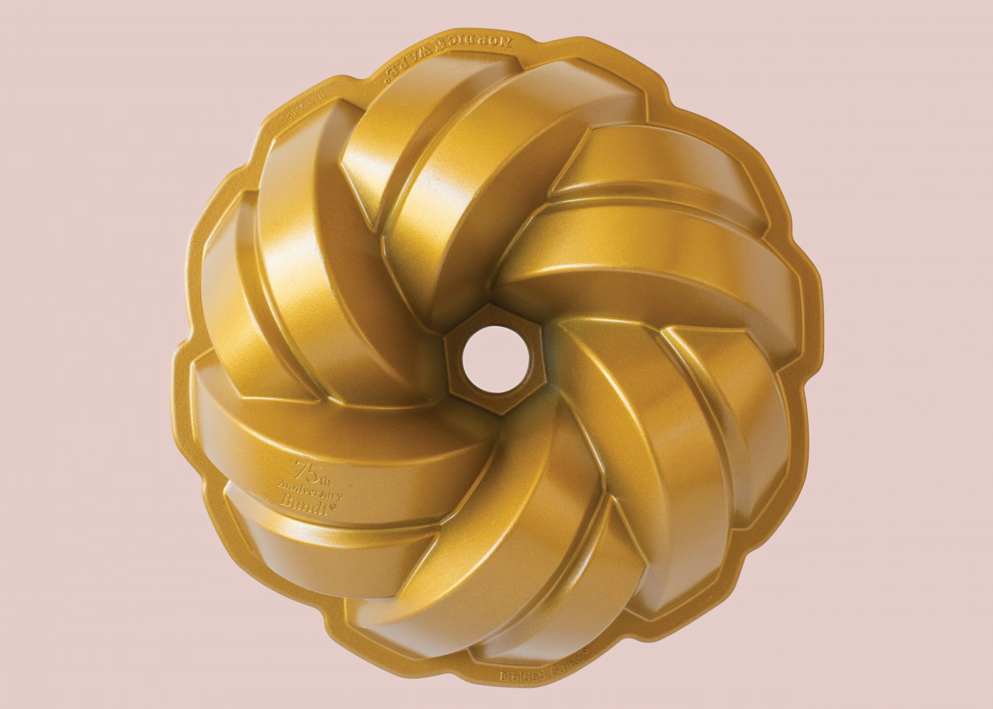 nordic ware 75th anniversary braided bundt loaf pan