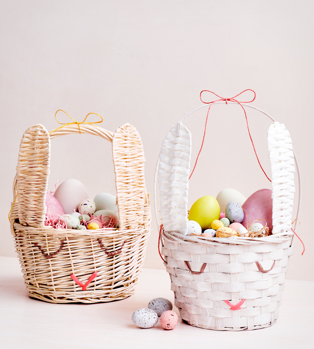 two stuffed easter baskets