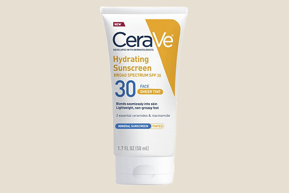 cerave hydrating sunscreen tube