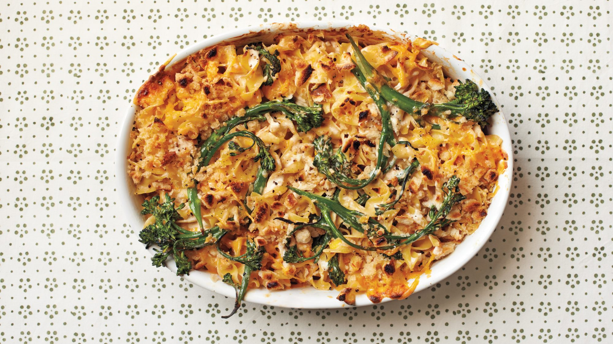 Chicken-and-Broccolini Mac and Cheese