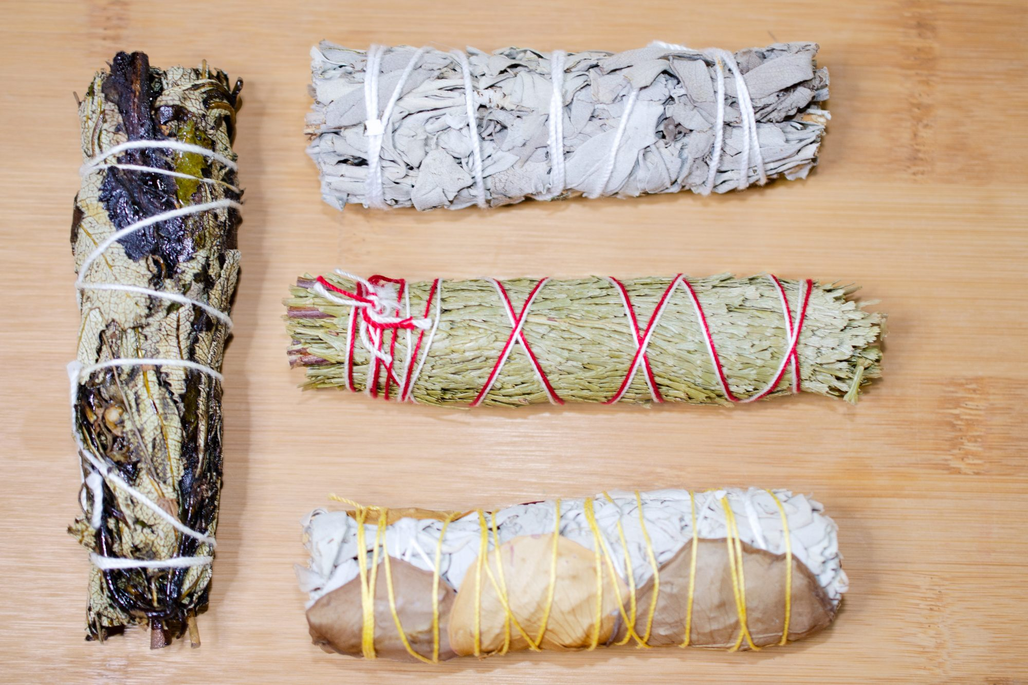 assortment of smudging herb sticks