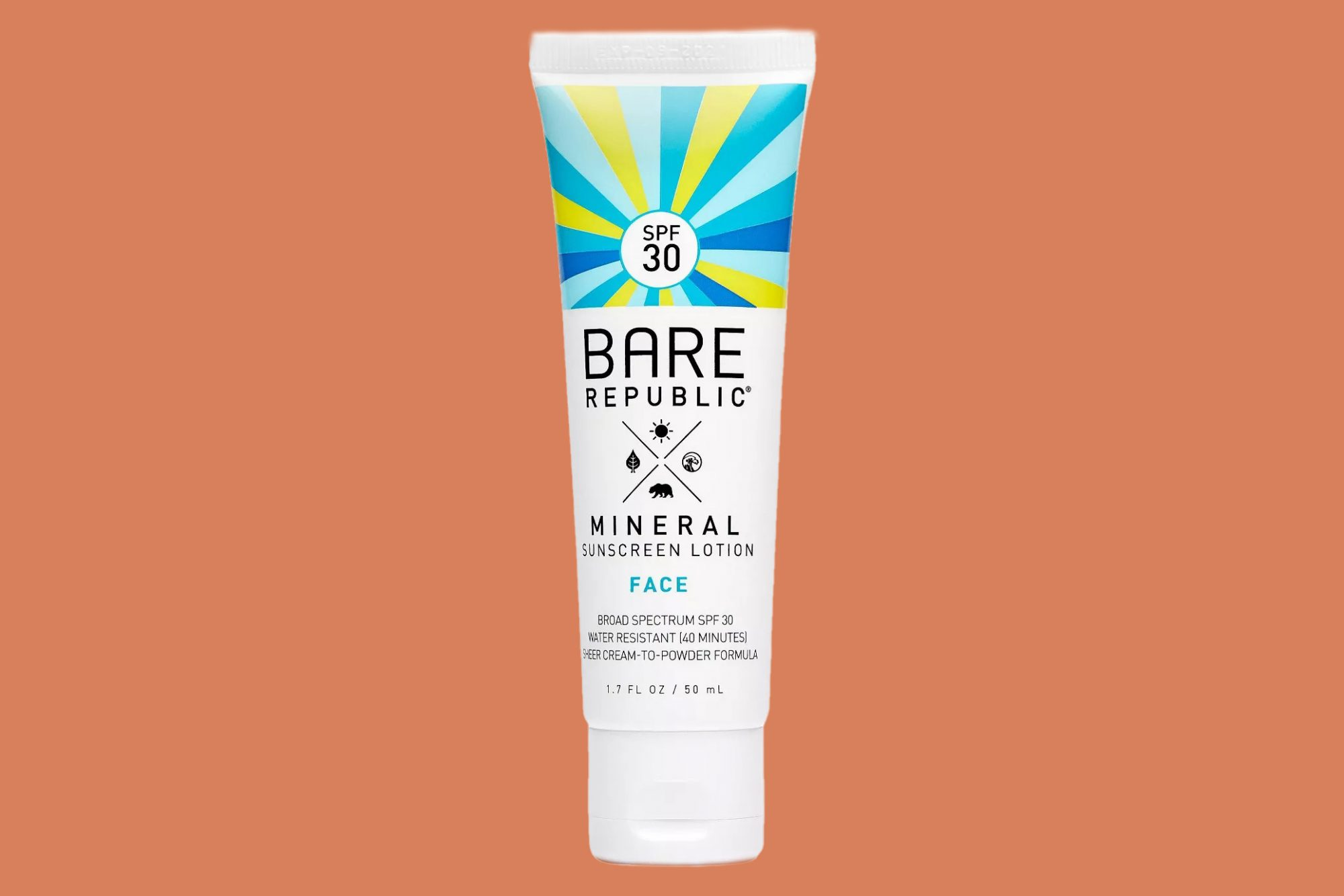 tube of bare Republic Mineral Face Lotion