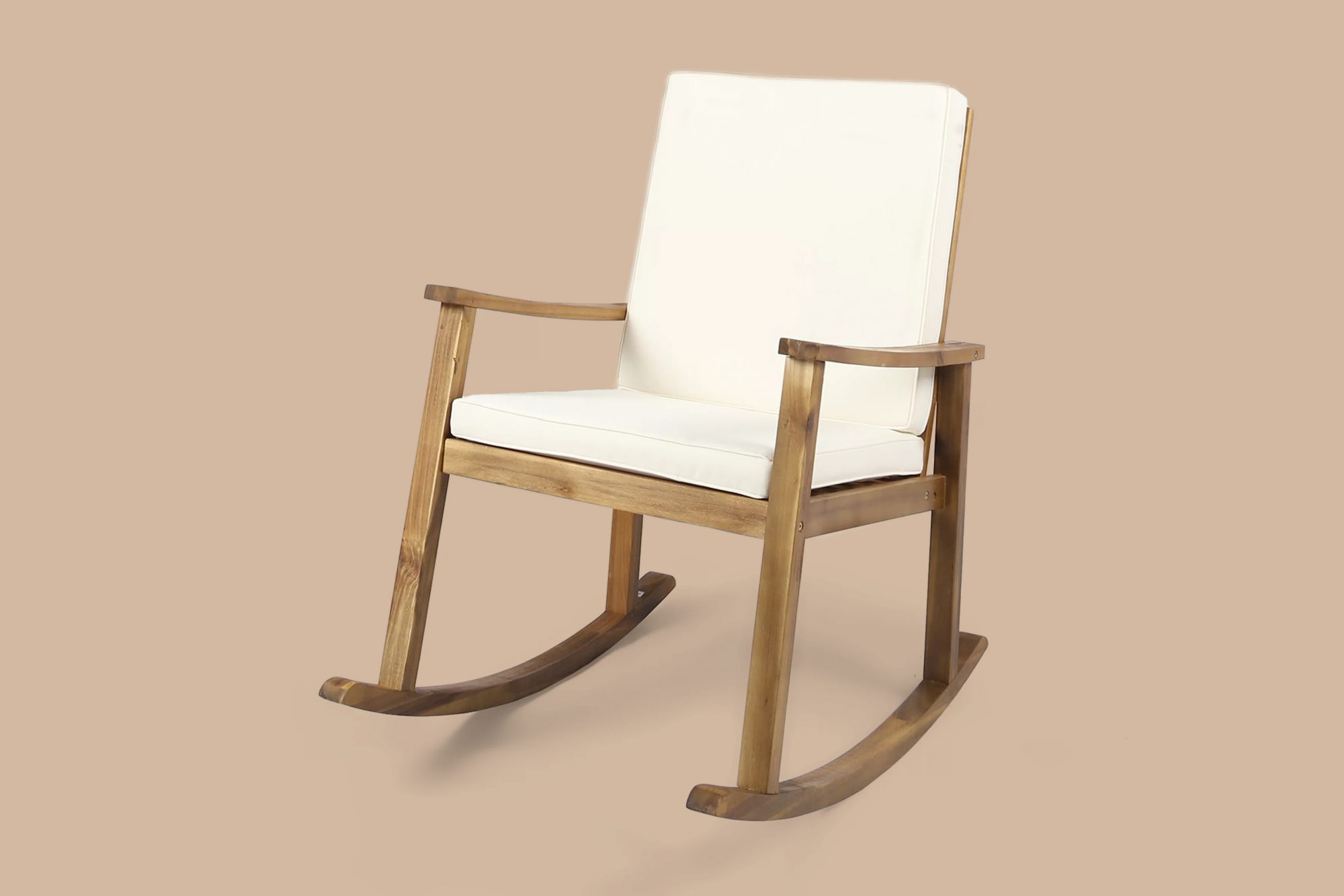 gracie oaks wood outdoor rocking chair