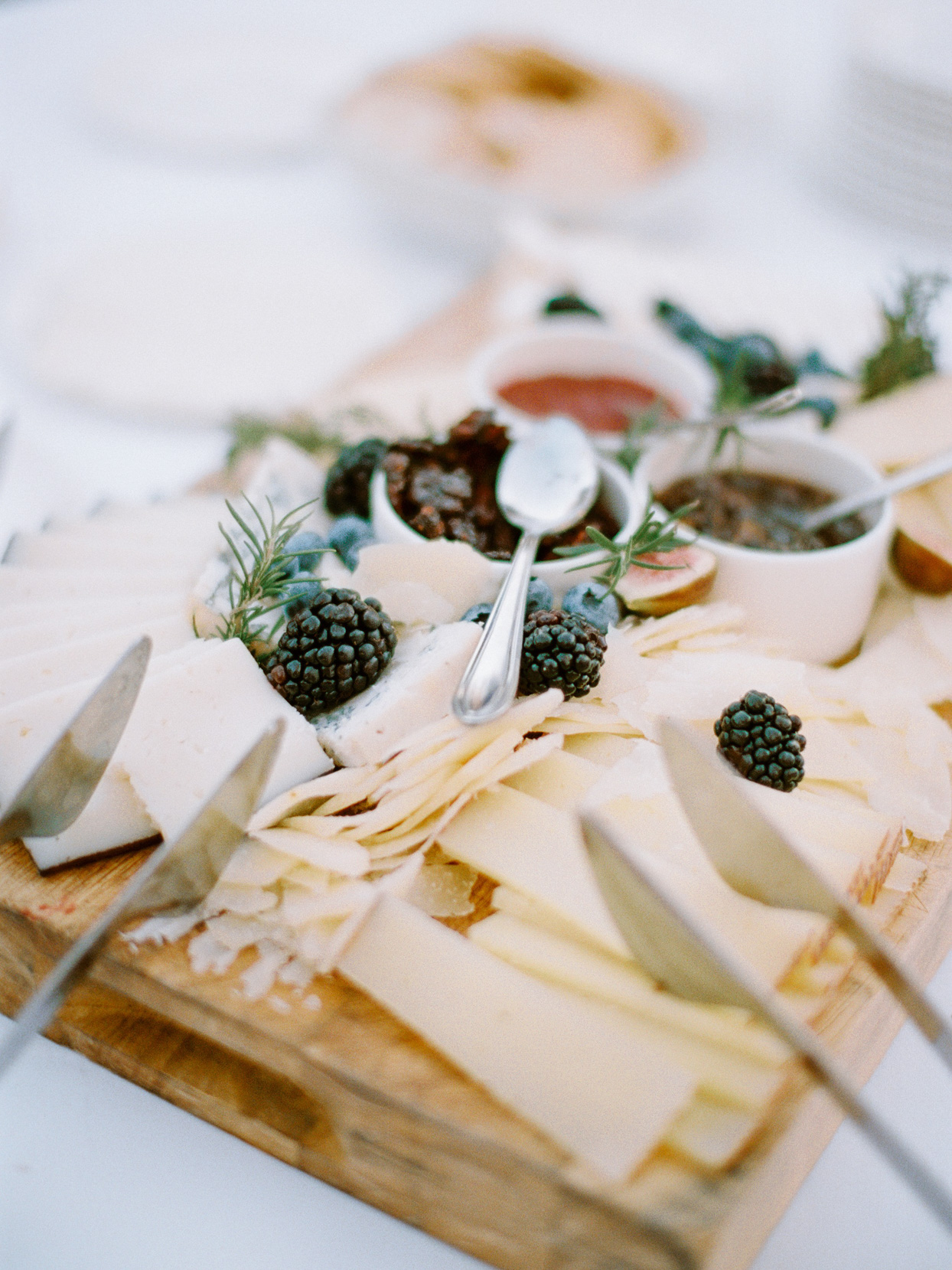 close up of wedding cheese platter