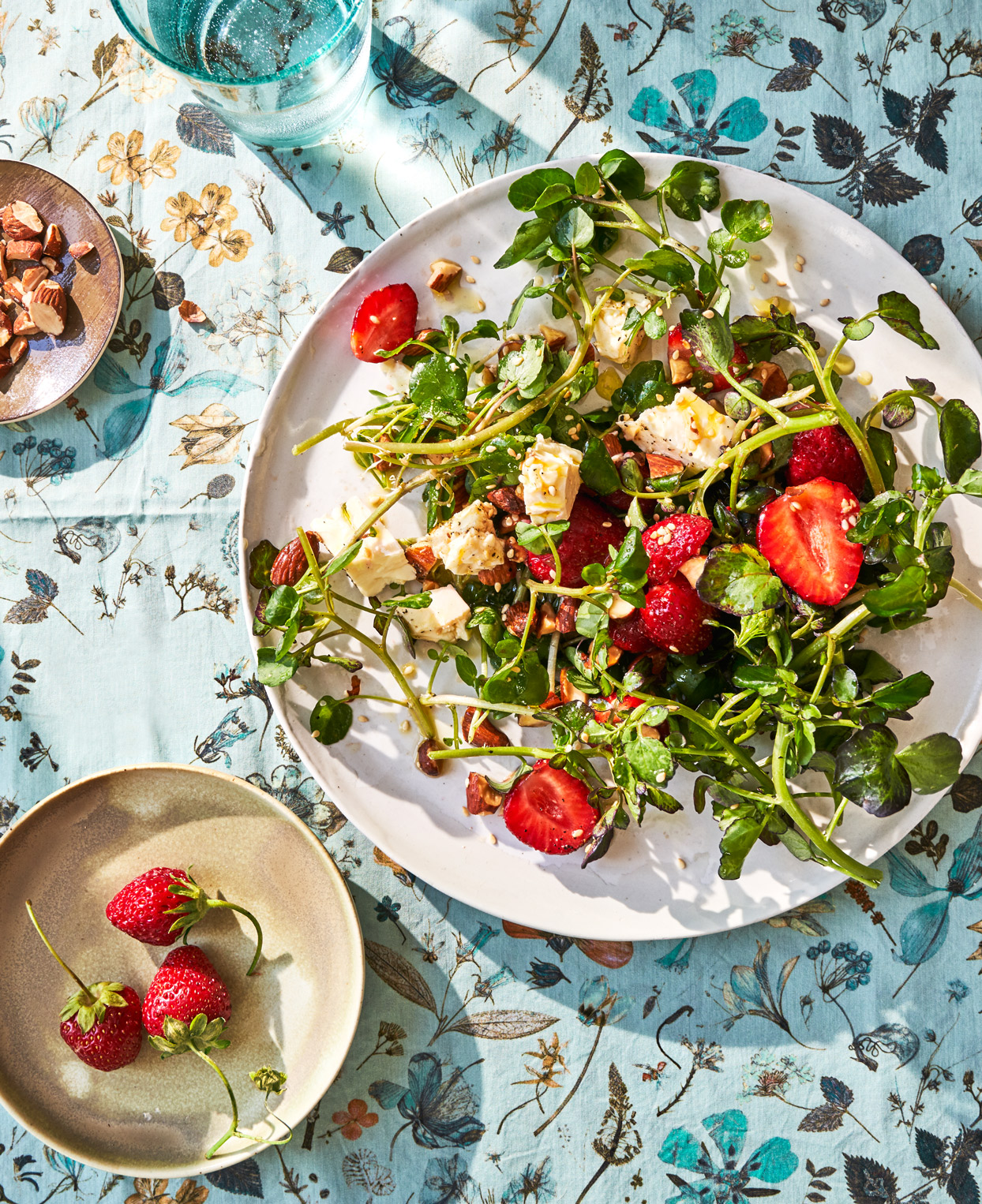 Watercress, Strawberry, and Toasted-Sesame Salad