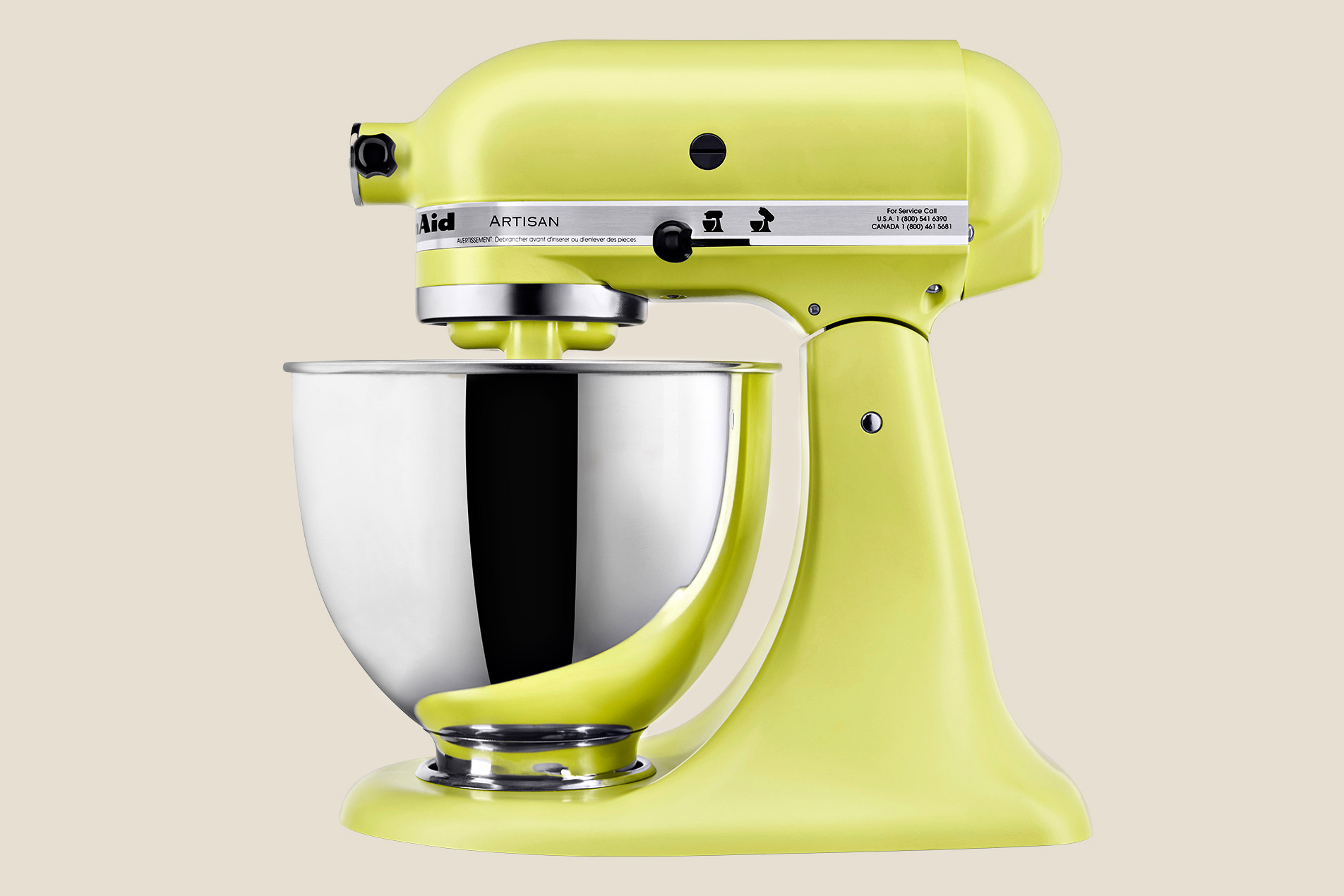 chartreuse color kithenaid stand mixer