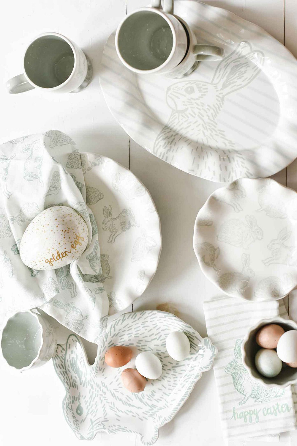 white ceramic easter collection