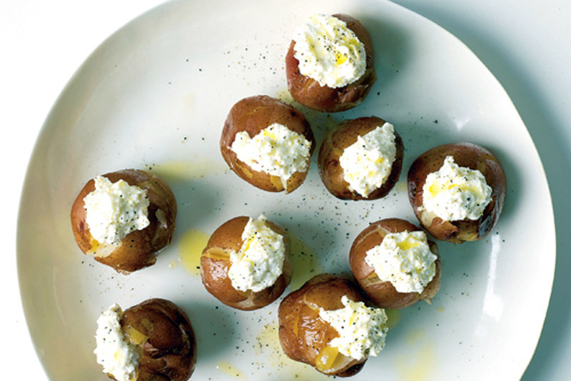 Roasted Potatoes with Ricotta