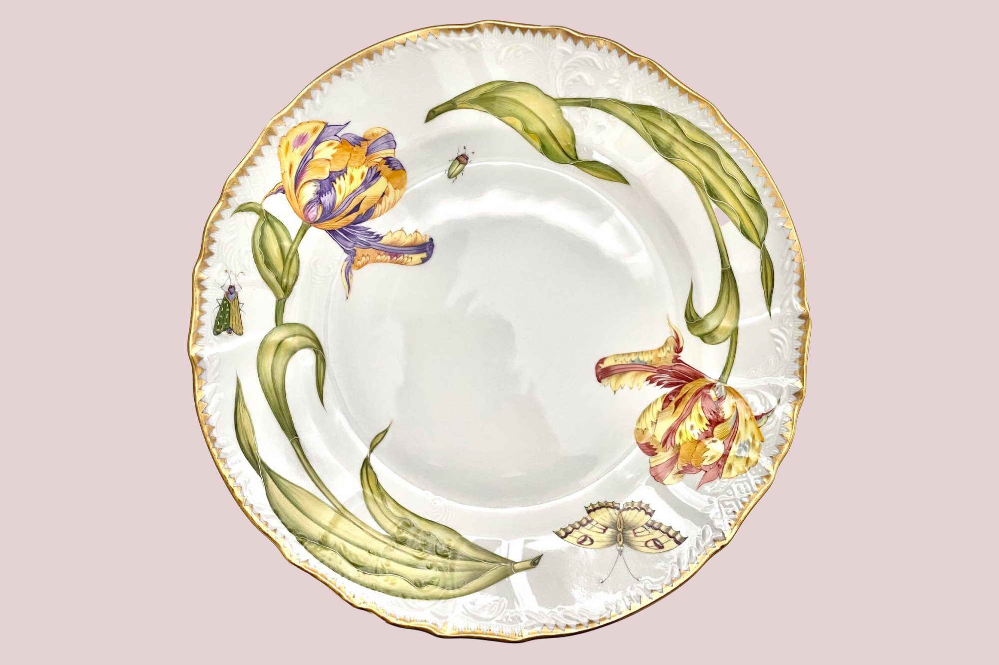 DOUBLE TULIP EXTRA LARGE SERVING PLATTER