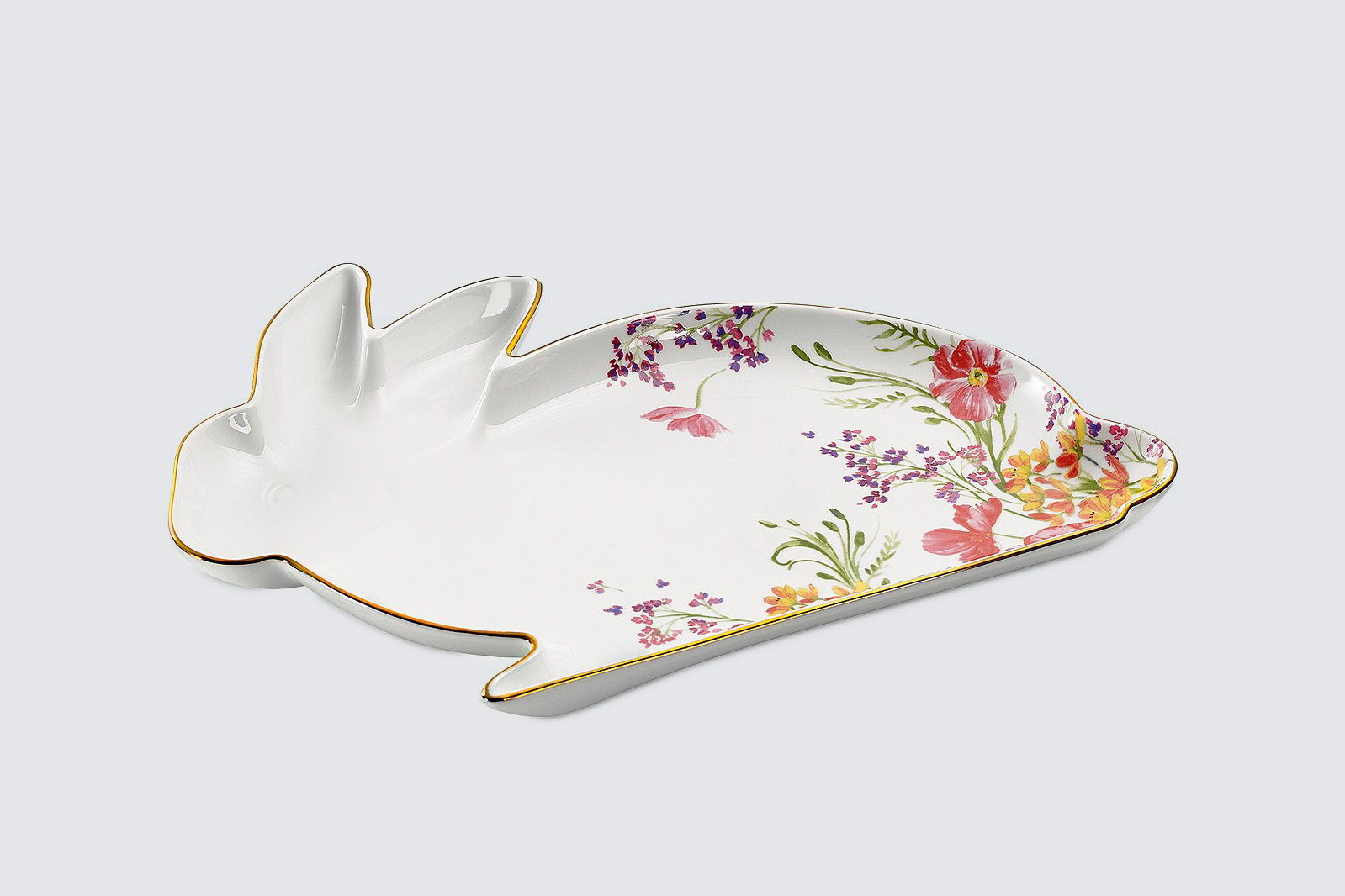 martha stewart collection easter bunny shaped platter