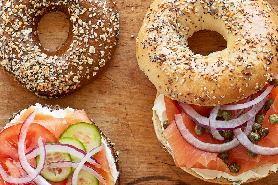Bagels, Cream Cheese, and Salmon