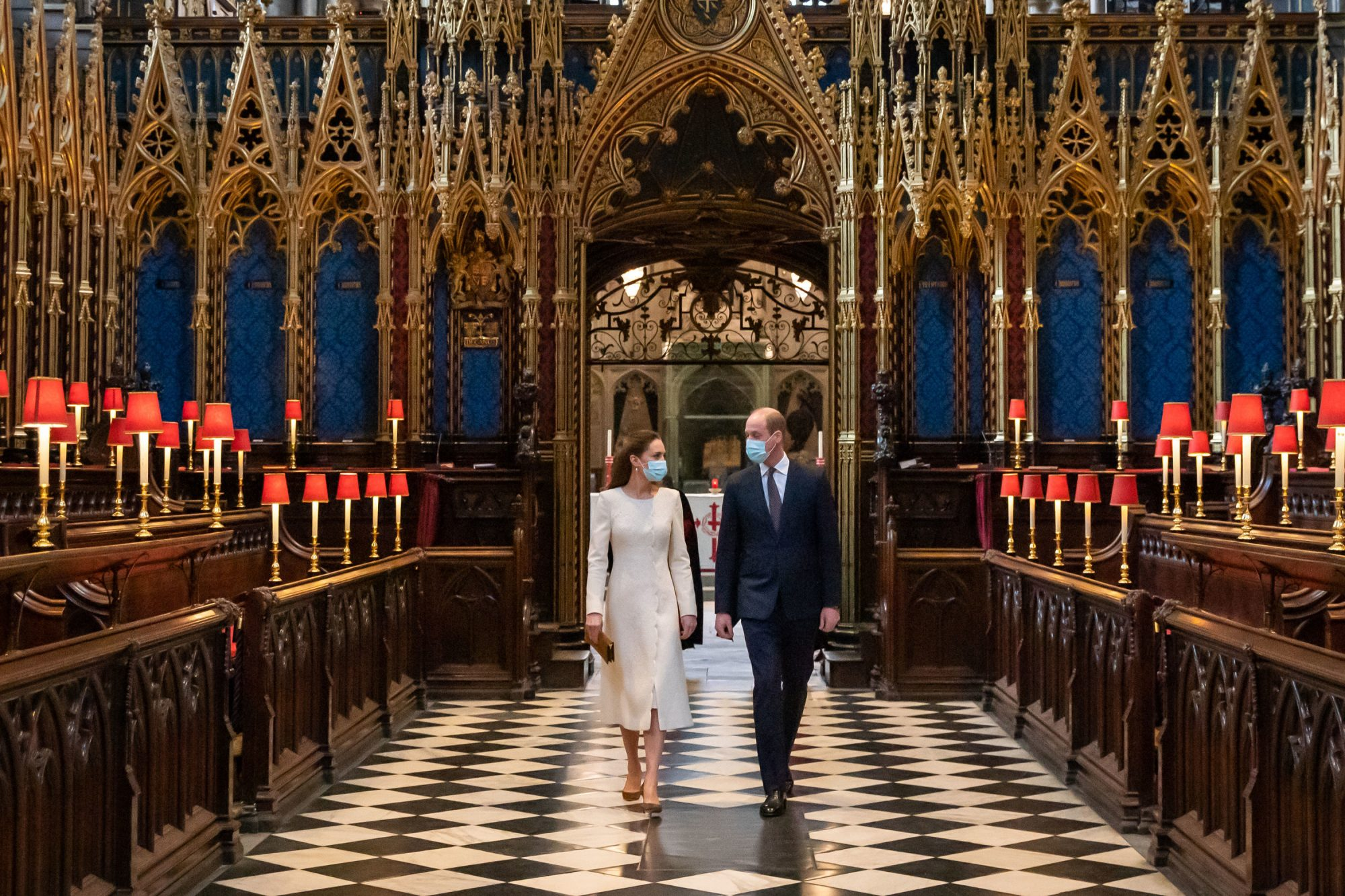 royals visit vaccine site at Westminster Abbey,