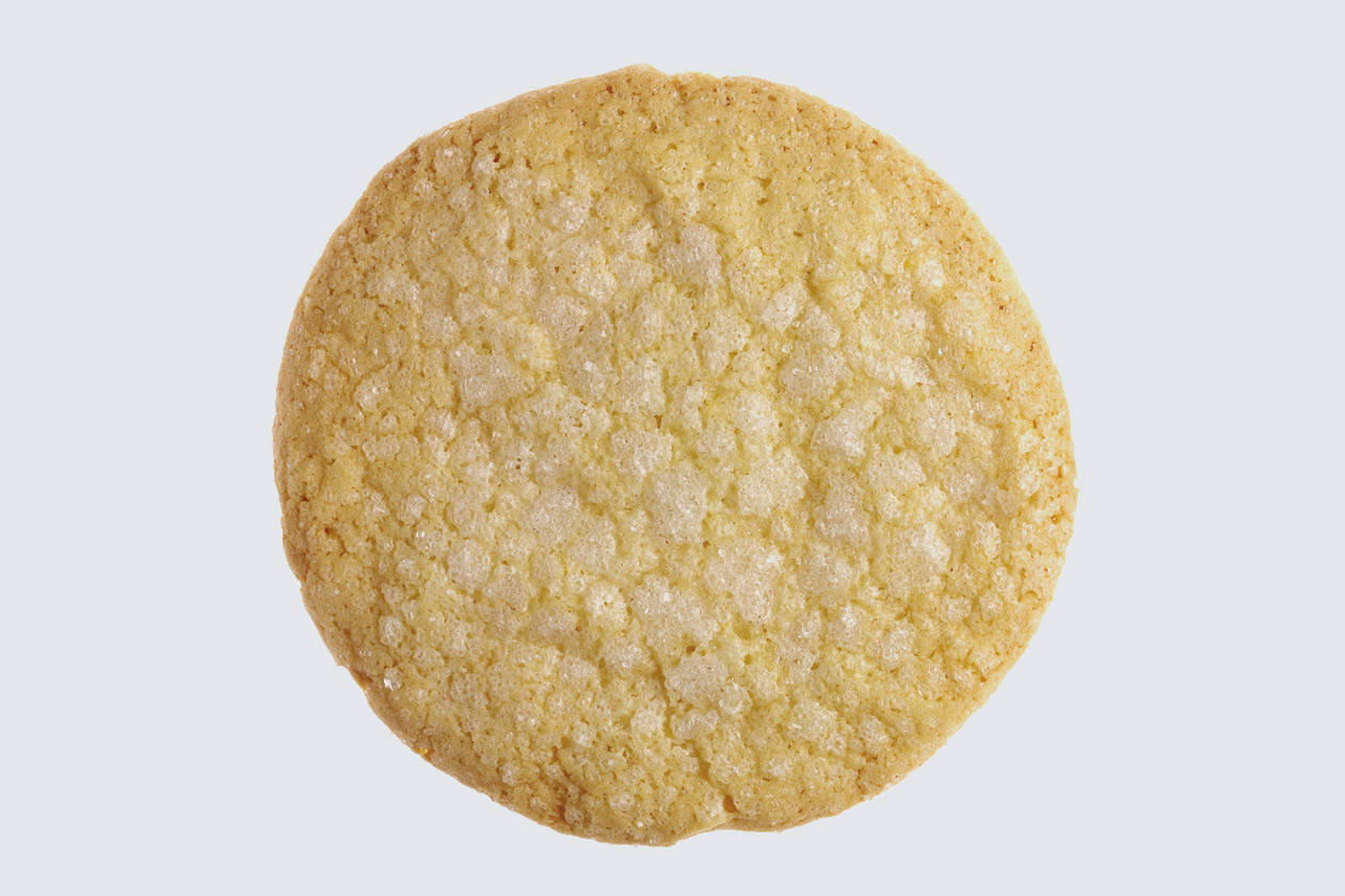 The zest and juice of fresh lemons perk up classic sugar cookies and sanding sugar gives a shiny, crunchy finish.