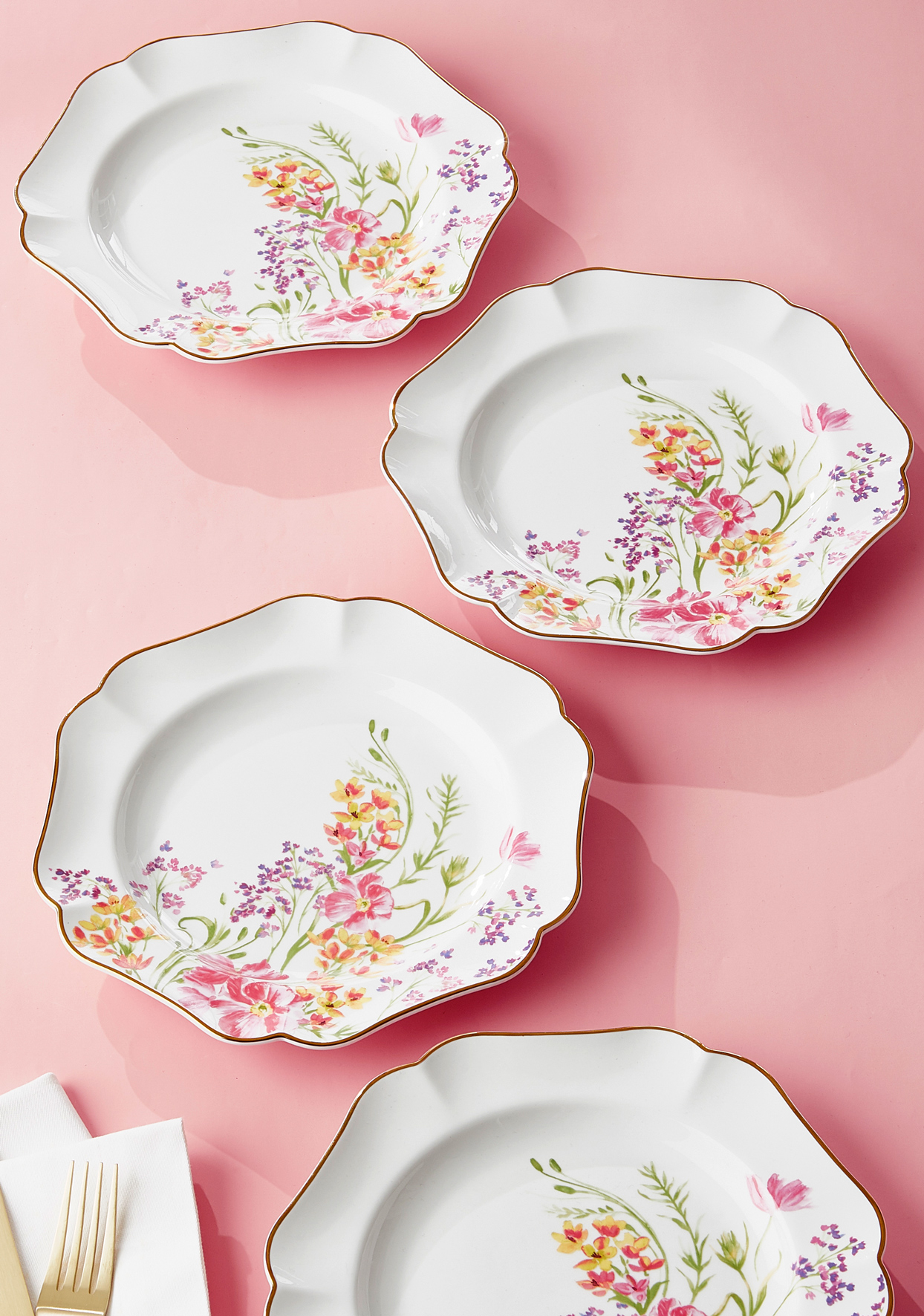 martha stewart collection easter floral salad plates macys
