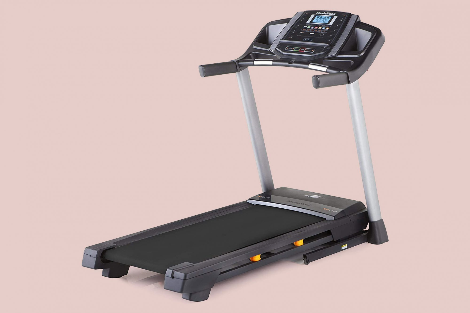 nordictrack t series treadmill on pink background