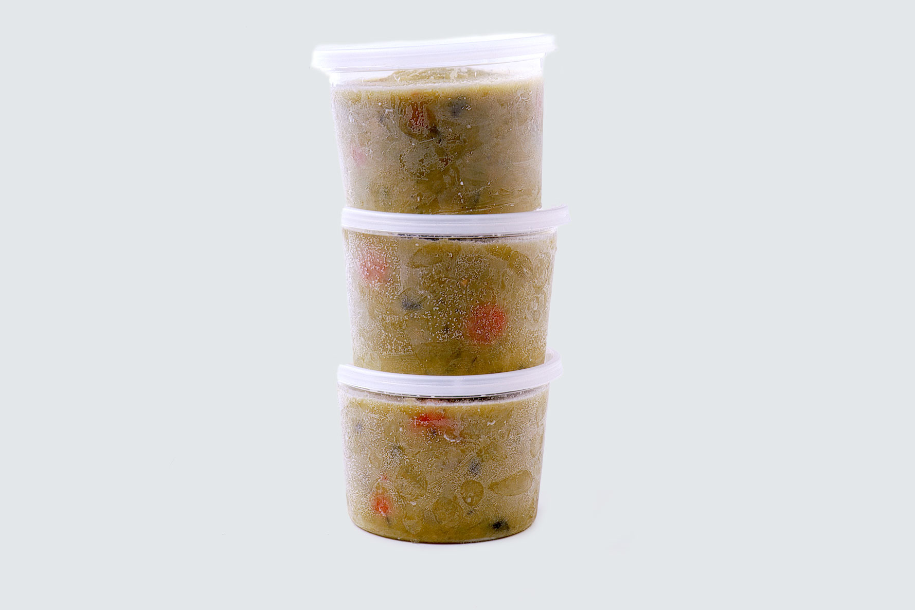 vegetarian split pea soup containers
