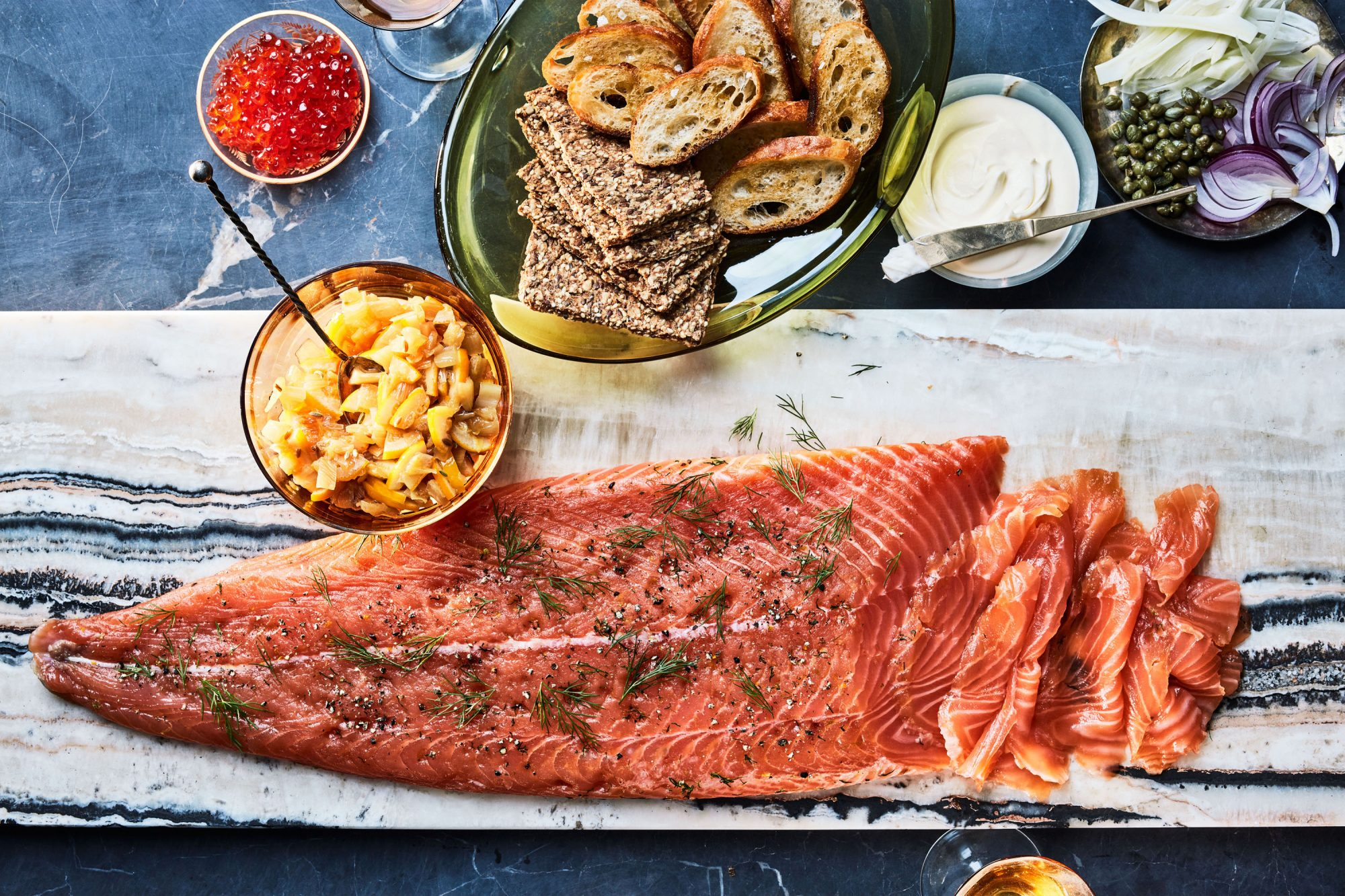 Juniper-and-Gin Gravlax