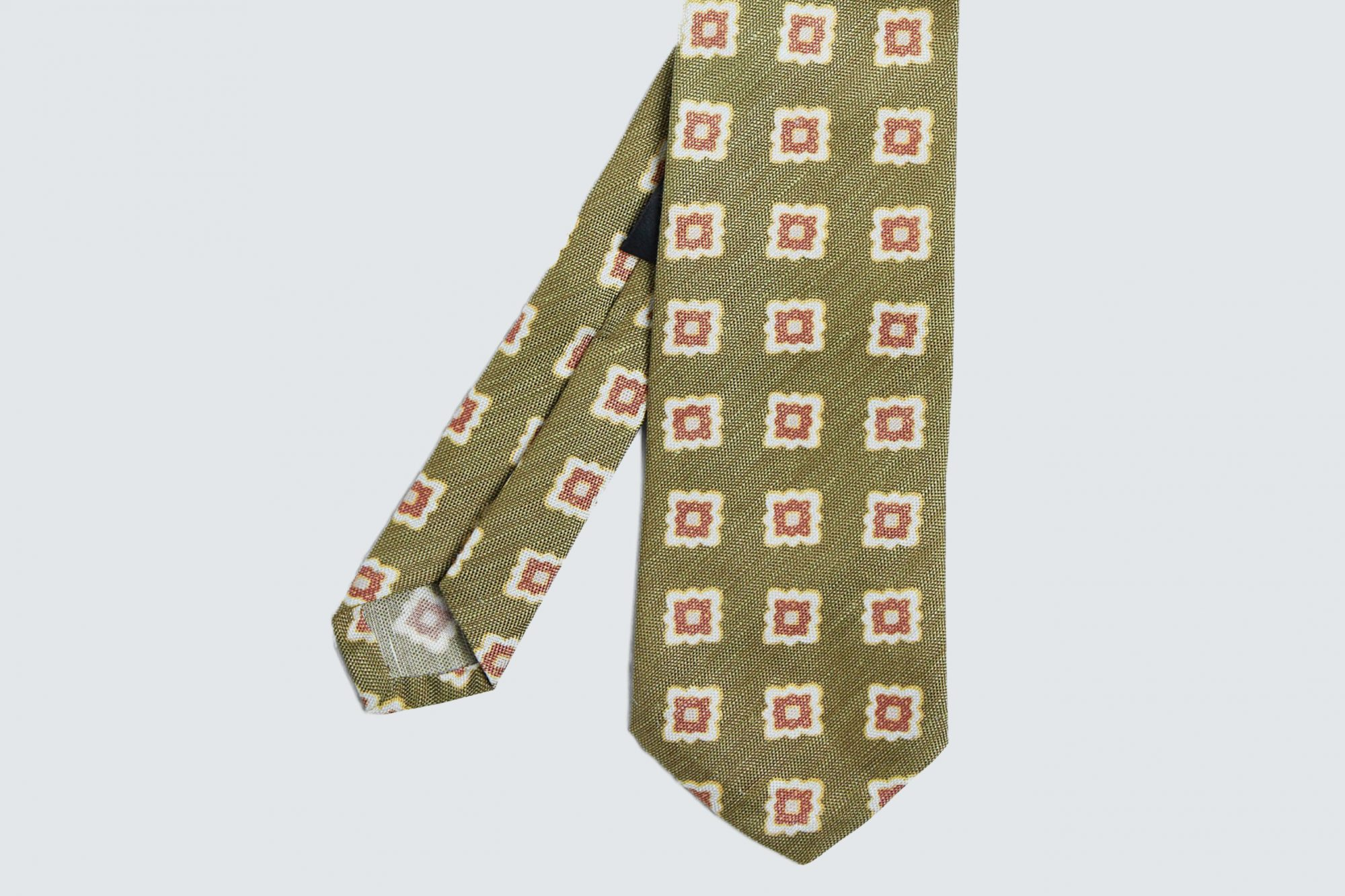 Phineas Cole Printed Deco Square Medallion Tie