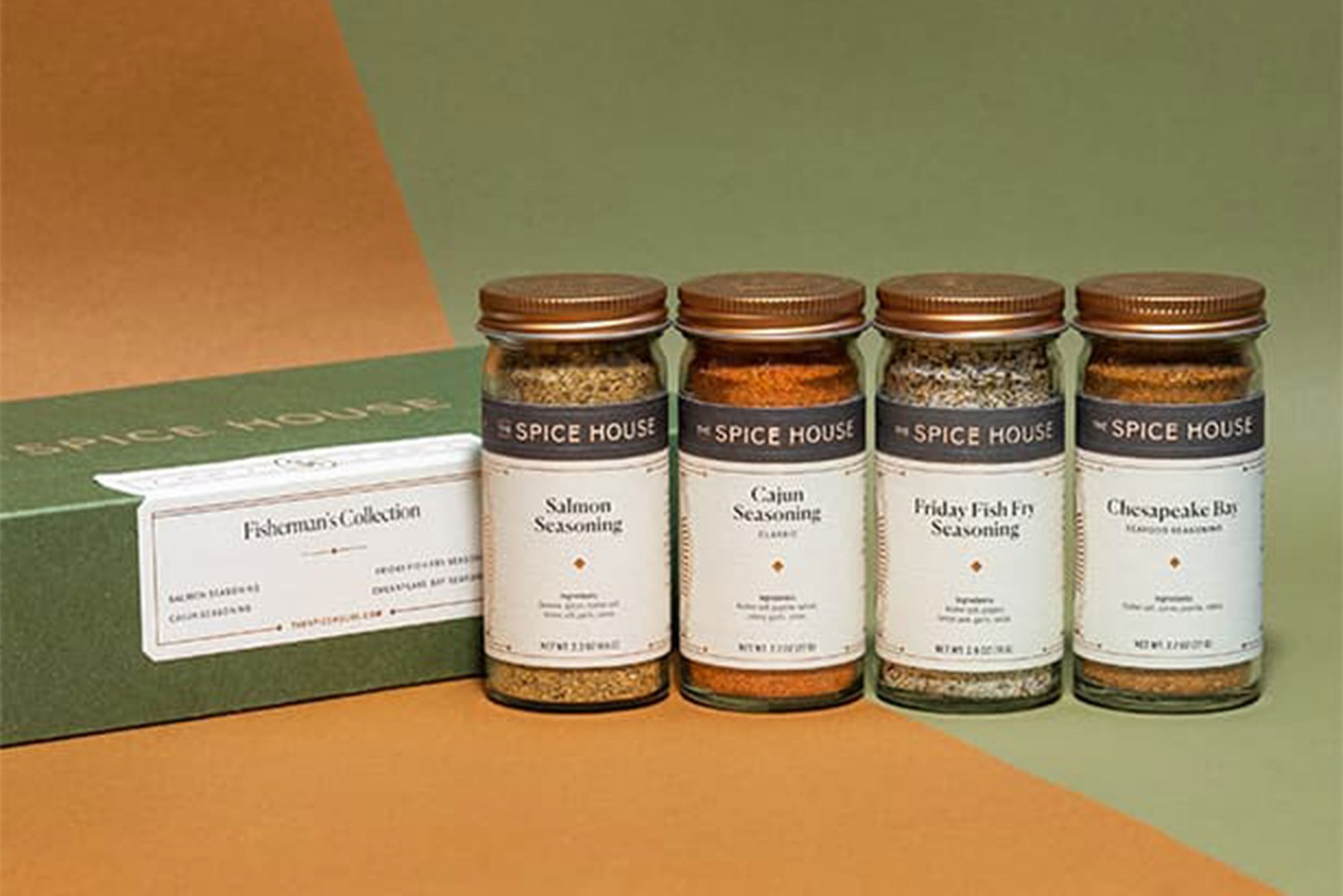 The Spice House Fisherman's Collection Four Jar Spice Box