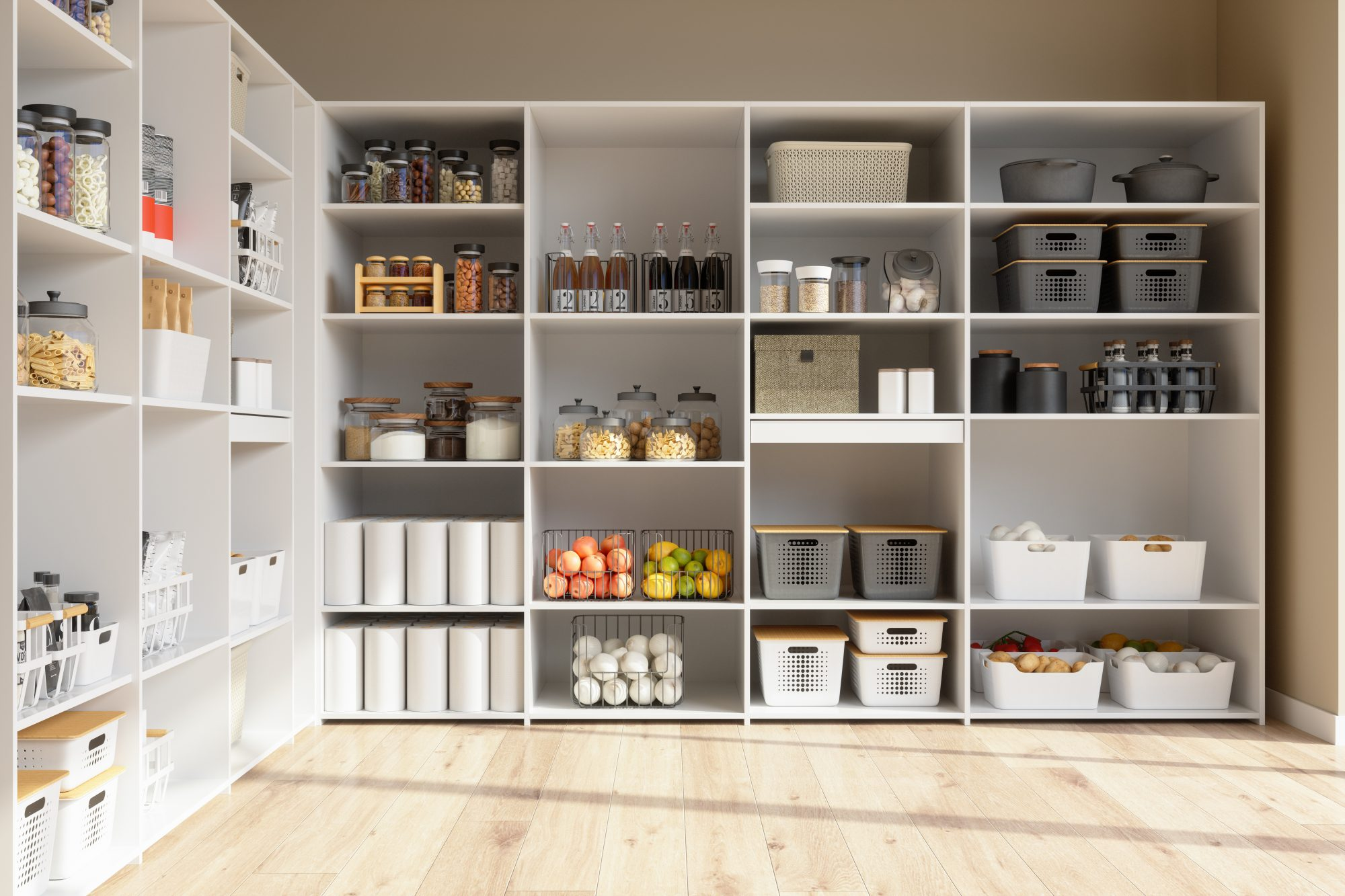 organized home food pantry