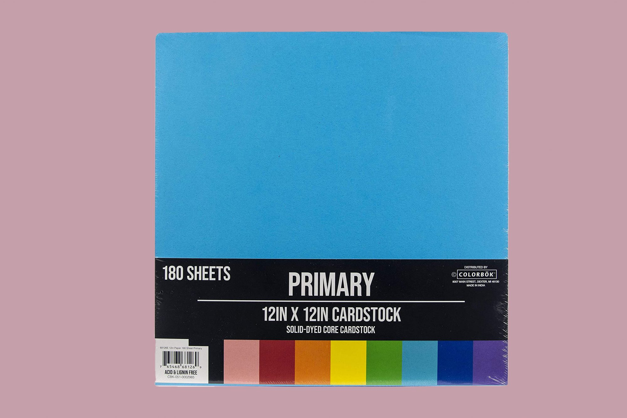 """ColorBok Primary Cardstock, 12"""" by 12"""""""