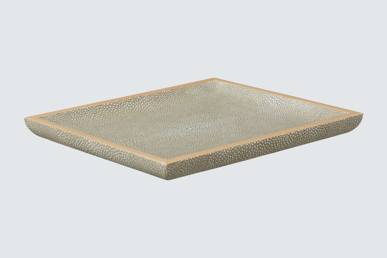 OKA Faux Shagreen Key Tray