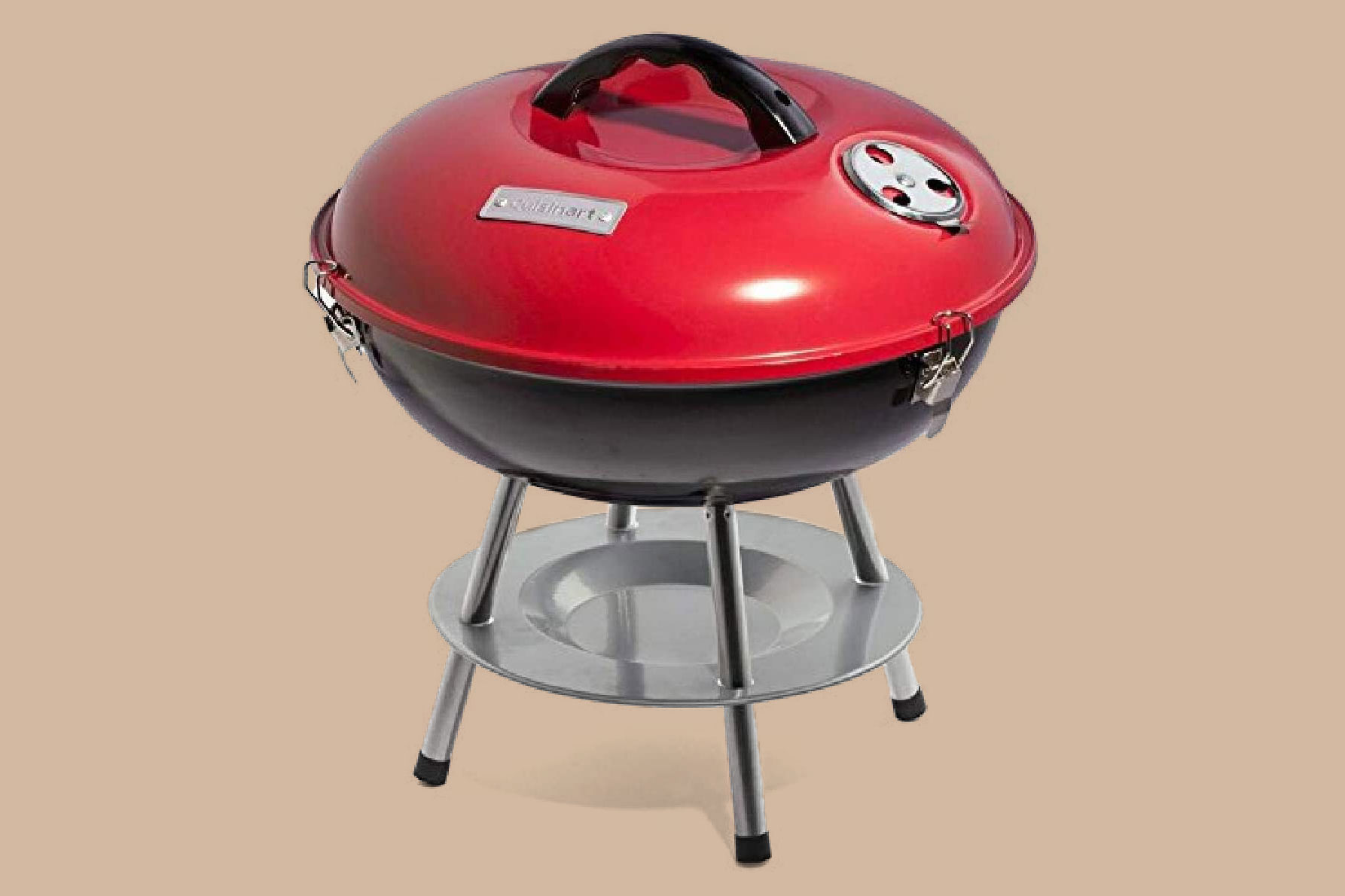 cusinart red portable charcoal grill