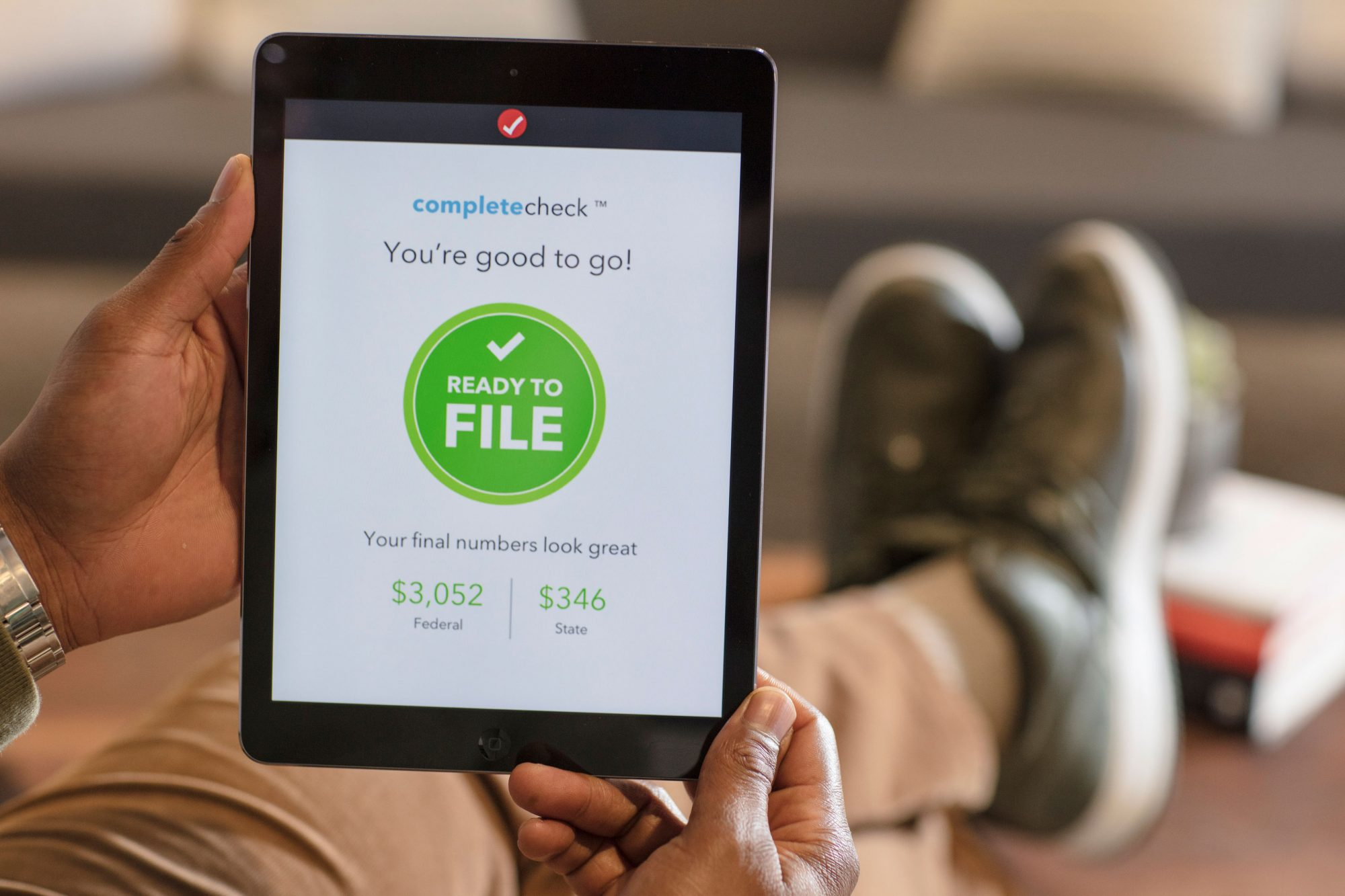 filling taxes on tablet online