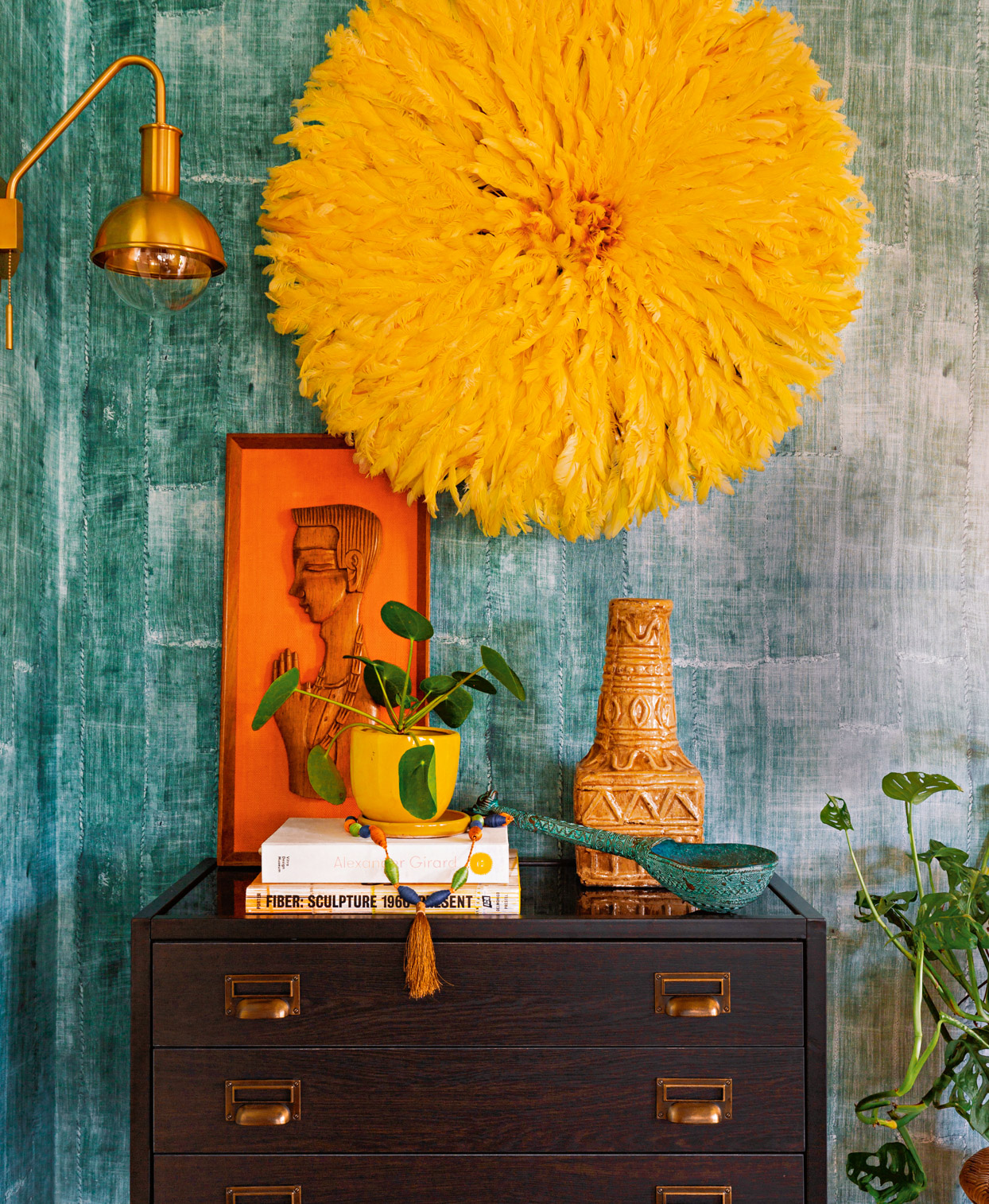 paint brushes with color and pattern swatches