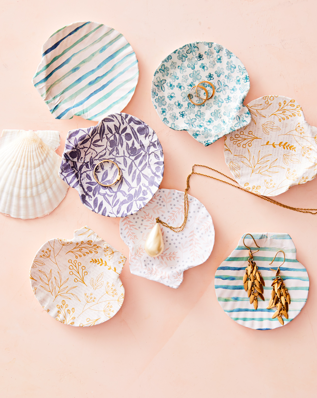 seashell image transfer jewelry dishes