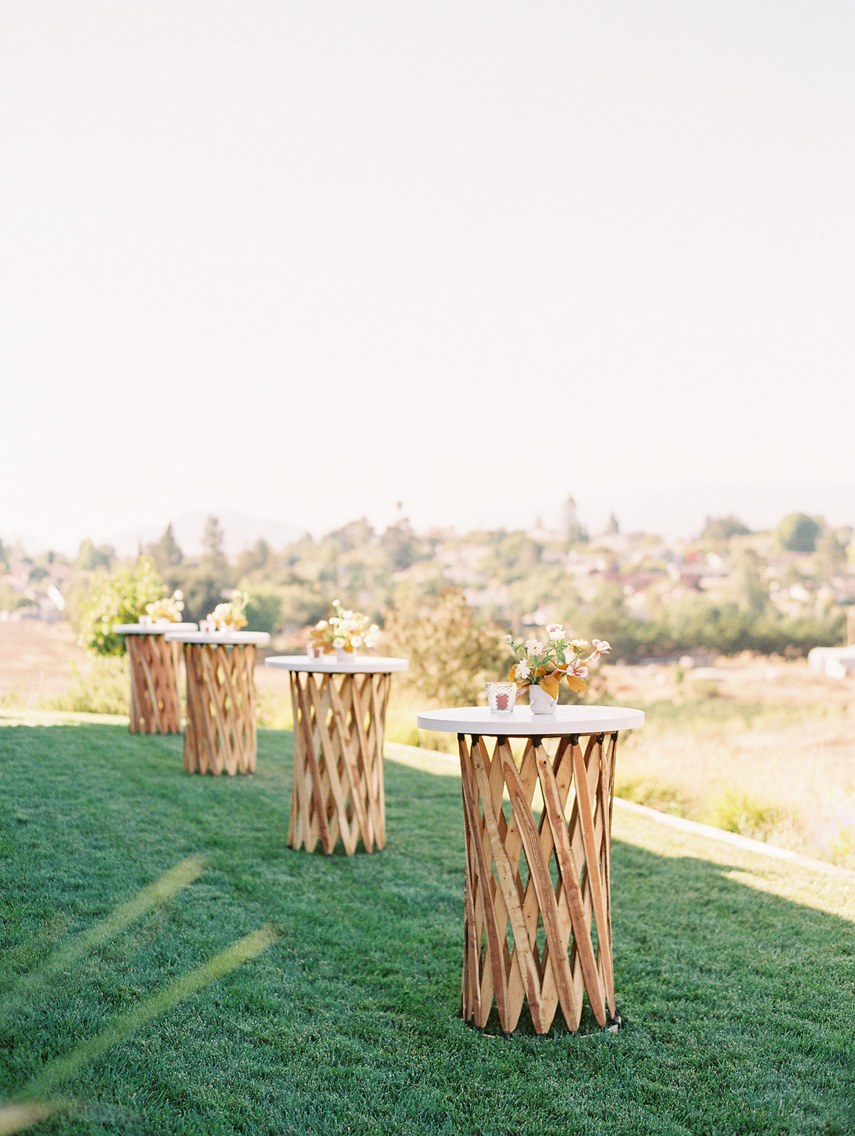 cocktail tables for reception