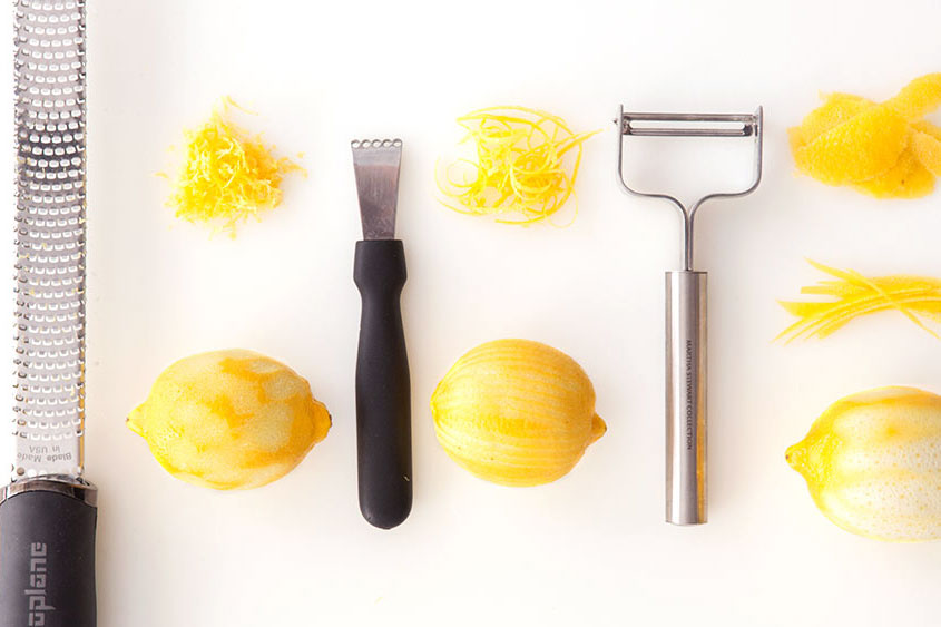 three ways to zest a lemon
