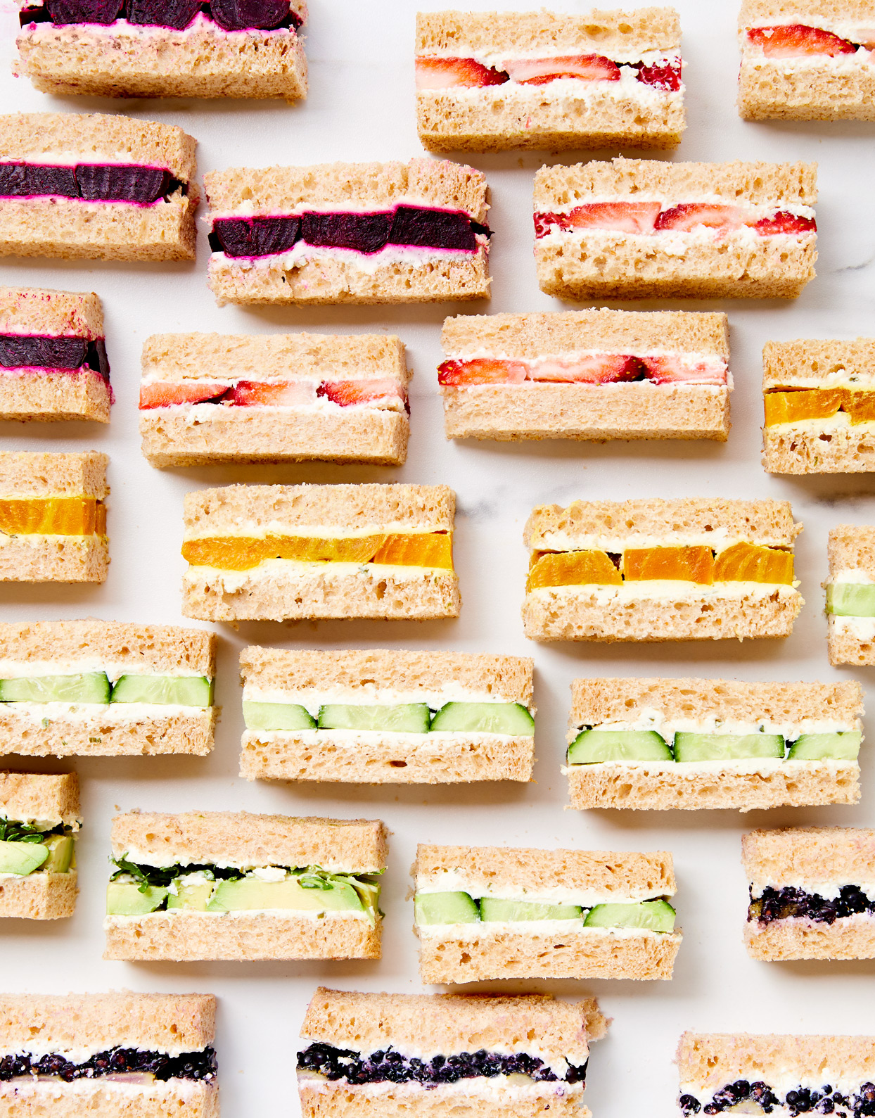sweet and savory tea sandwiches
