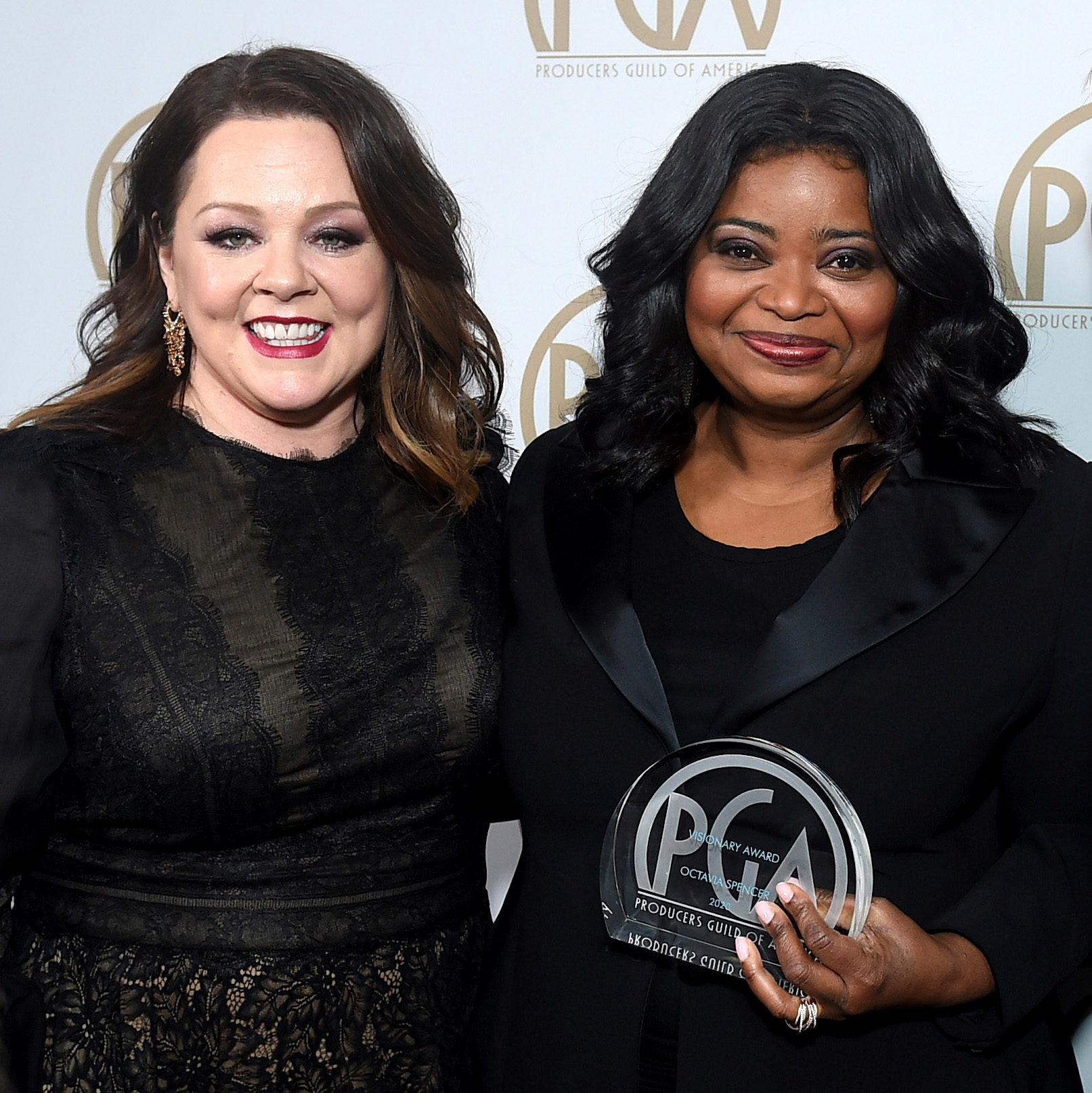 melissa mccarthy and octavia spencer at 31st Annual Producers Guild Awards