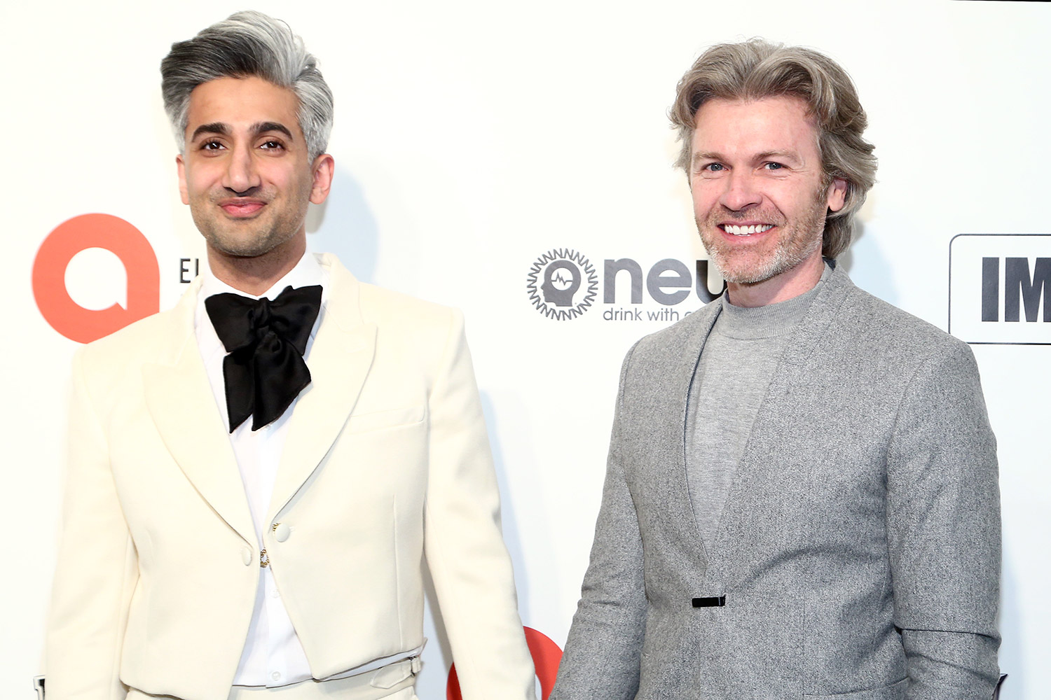 tan and rob france at the IMDb LIVE Presented By M&M'S At The Elton John AIDS Foundation Academy Awards Viewing Party