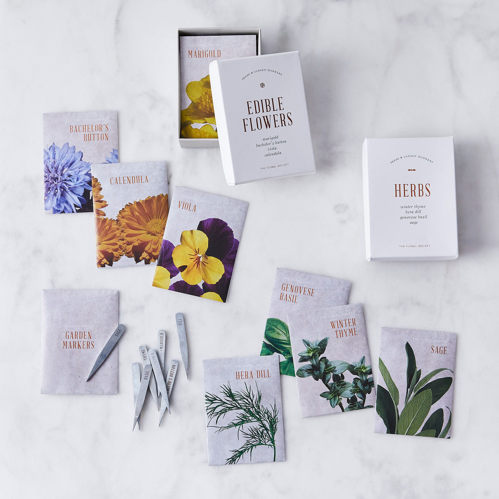 The Floral Society Herb & Edible Flower Seed Gift Boxes