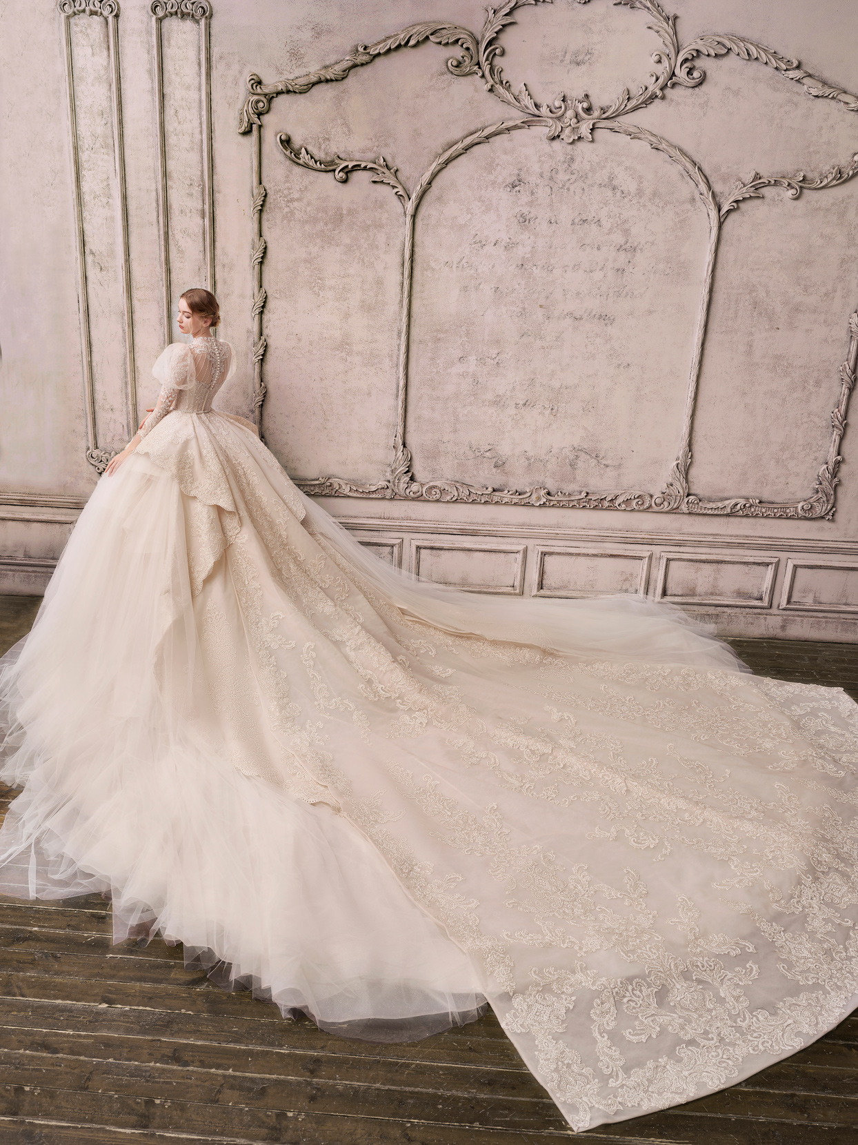 The Atelier Couture long train ball gown wedding dress spring 2022