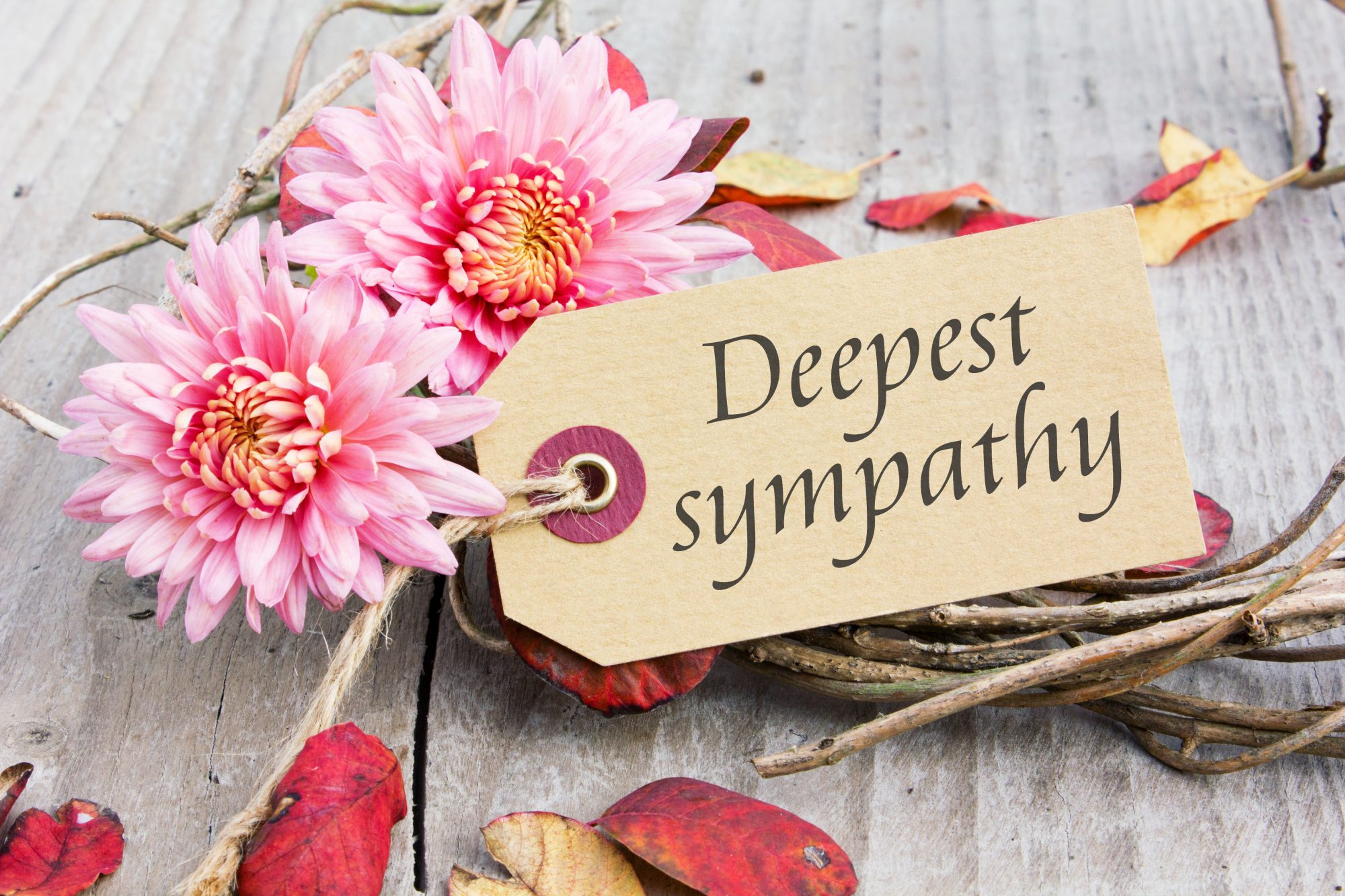 deepest sympathy card and flowers